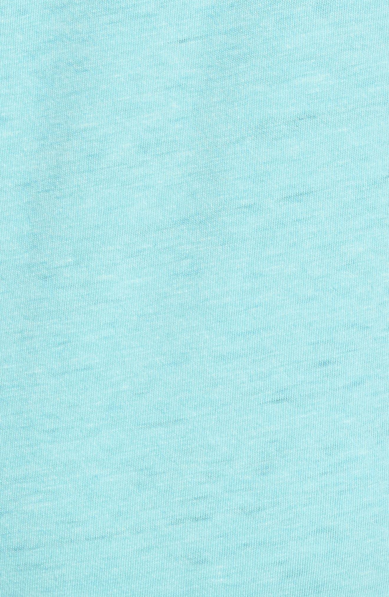 Sage Stripe Floral Graphic T-Shirt,                             Alternate thumbnail 5, color,