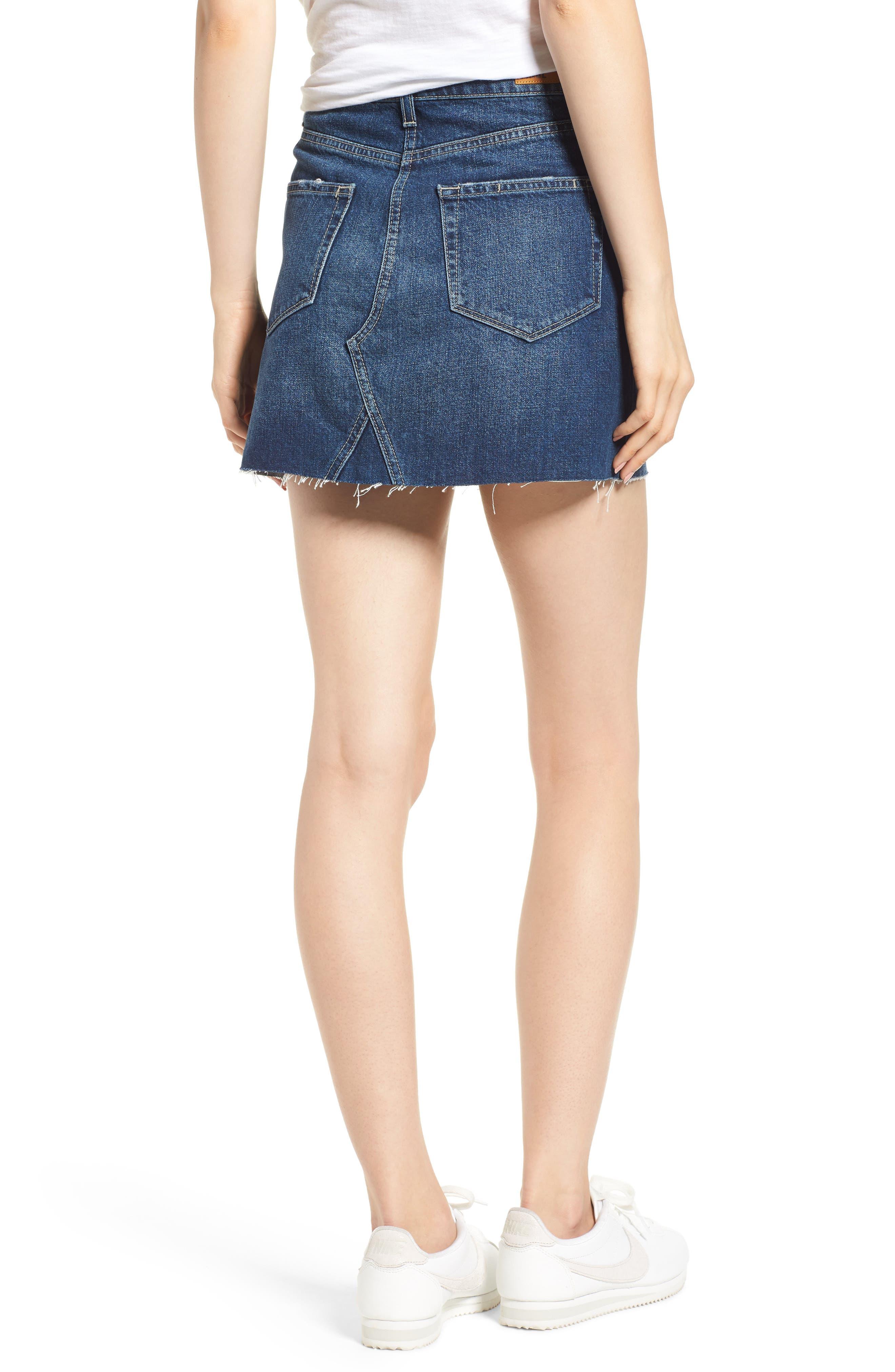 Aideen Denim Miniskirt,                             Alternate thumbnail 2, color,                             400