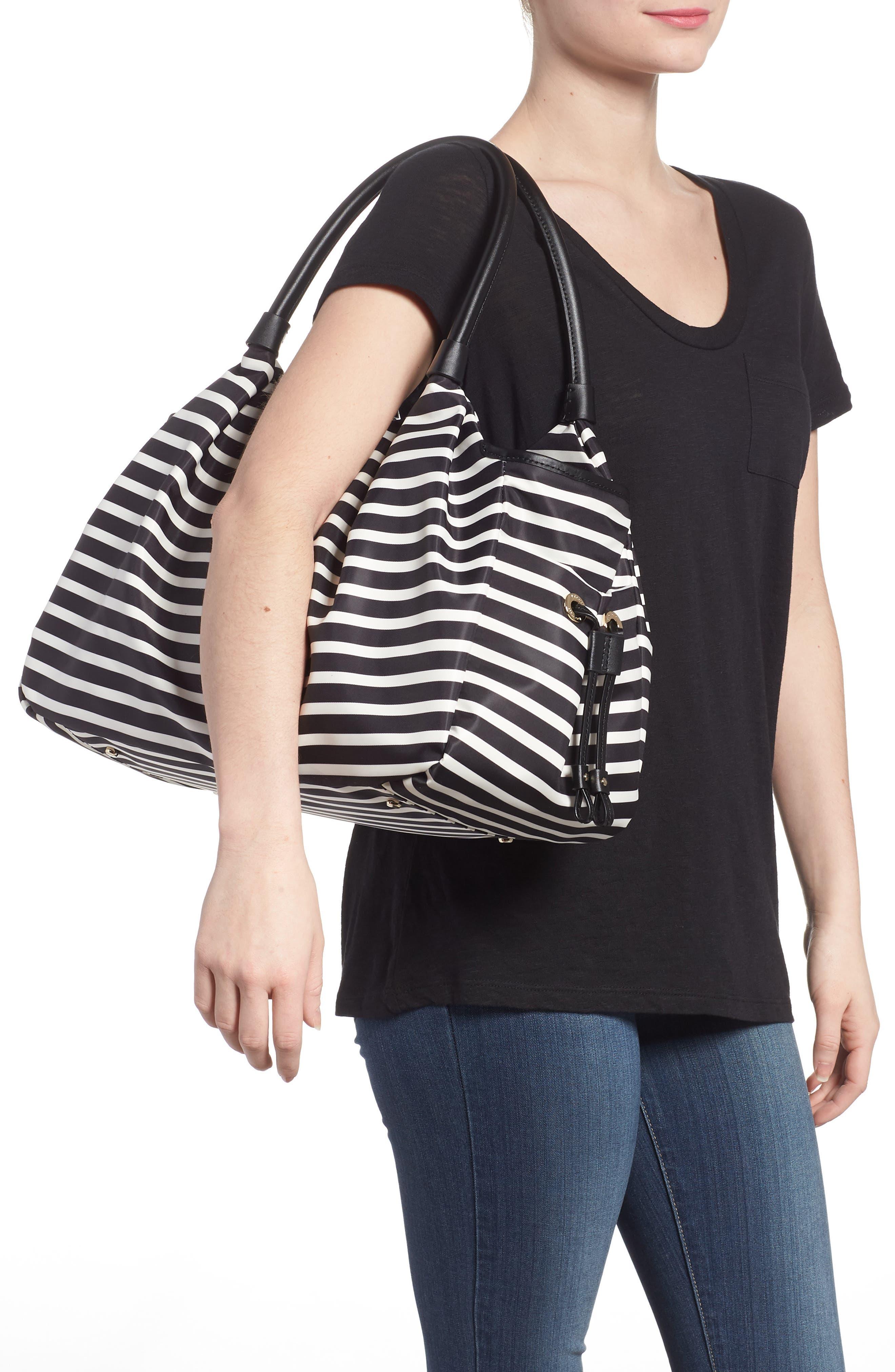 watson lane - stevie diaper bag,                             Alternate thumbnail 2, color,                             BLACK/ CLOTTED CREAM