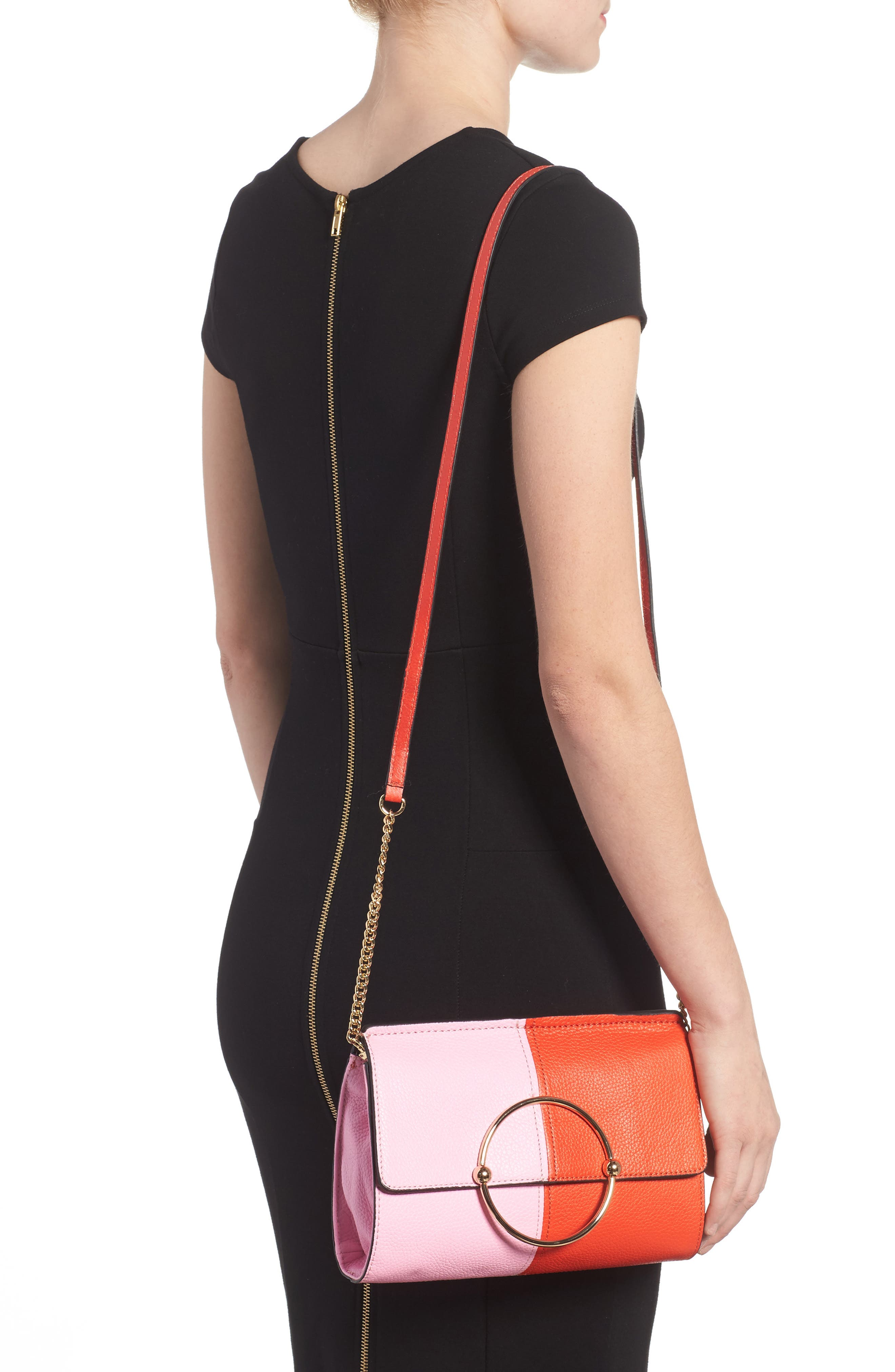 Astor Pebbled Leather Flap Clutch,                             Alternate thumbnail 8, color,