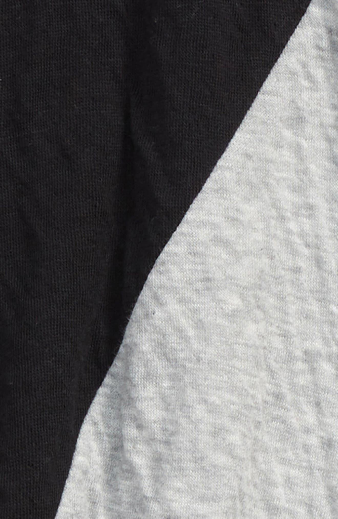 Colorblock Baggy Pants,                             Alternate thumbnail 2, color,                             BLACK/ HEATHER GREY