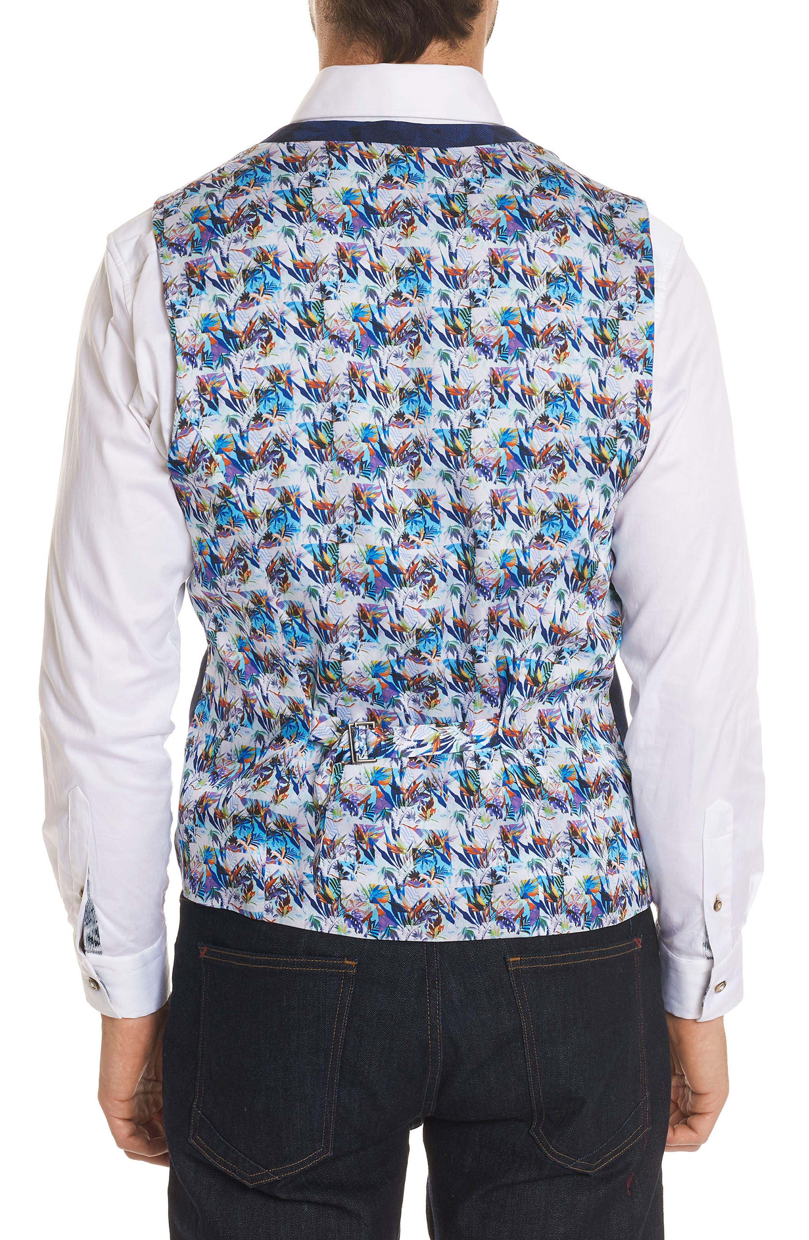 Nunez Regular Fit Linen & Cotton Vest,                             Alternate thumbnail 2, color,                             400