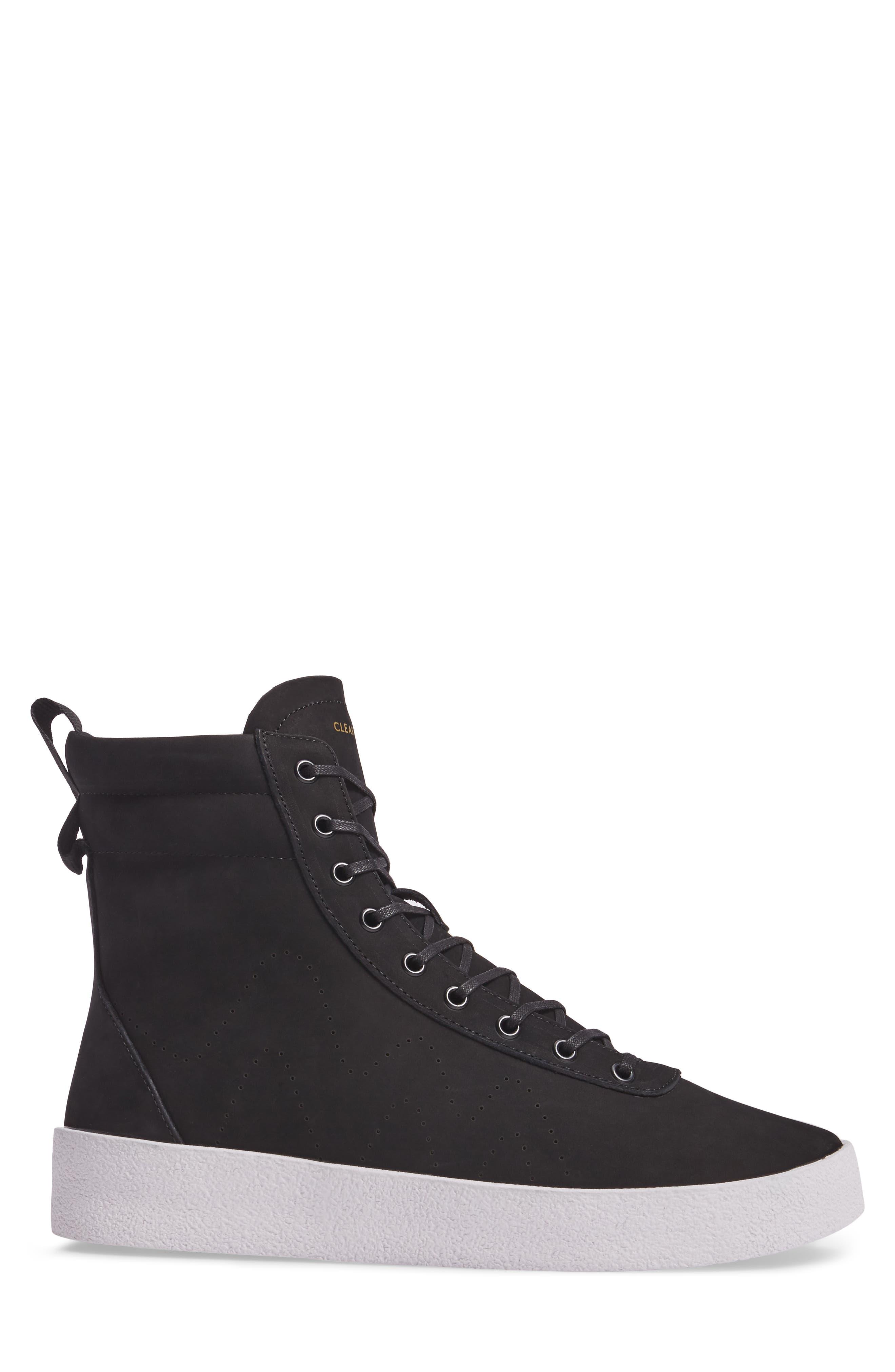 Highlander High Top Sneaker,                             Alternate thumbnail 3, color,                             001