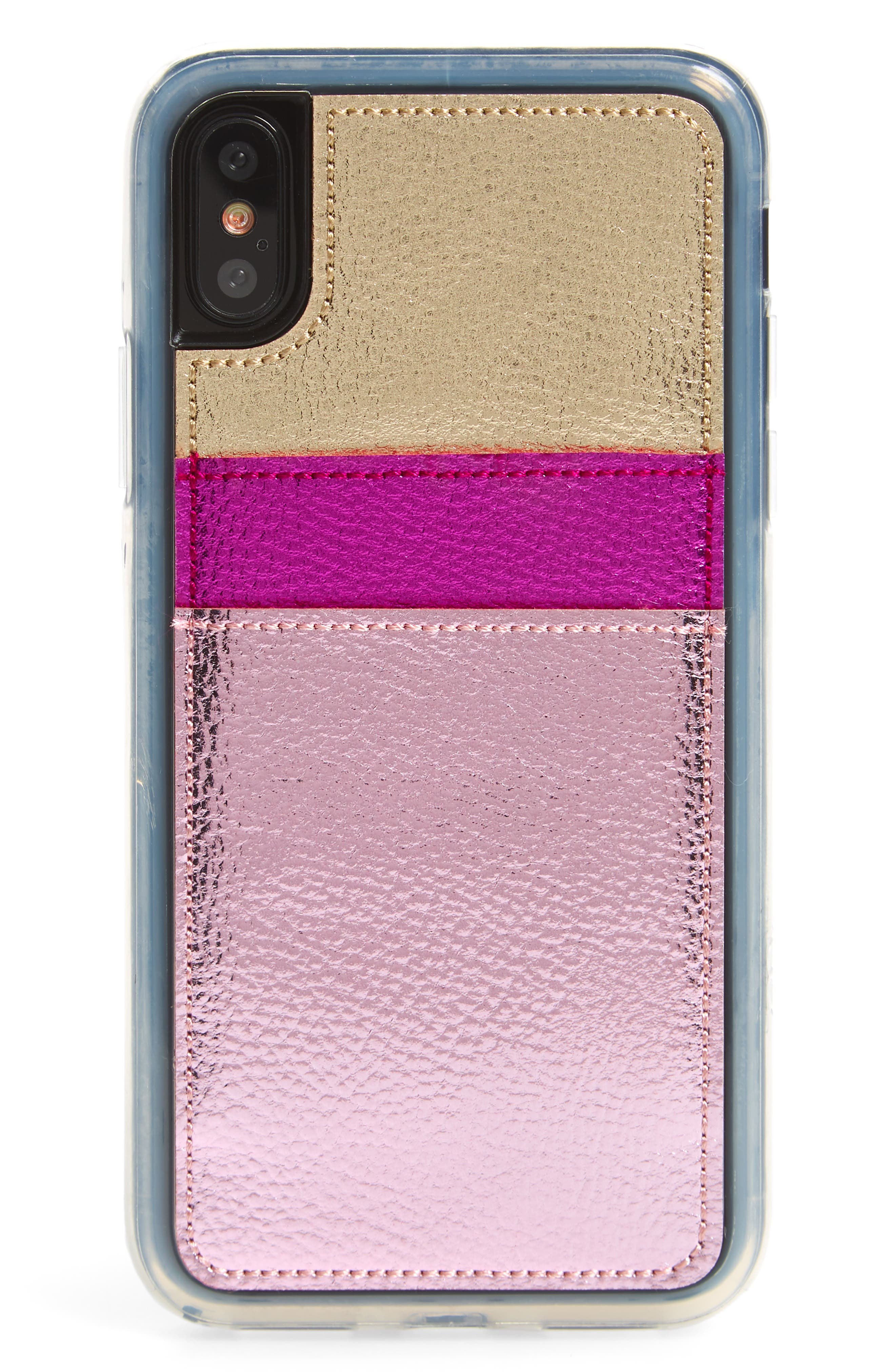 Strut iPhone X Wallet,                         Main,                         color, PINK