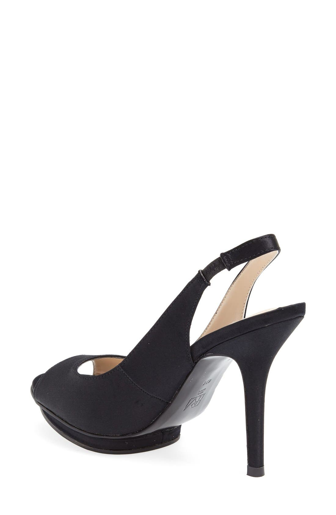 'Rivka' Open Toe Platform Slingback Sandal,                             Alternate thumbnail 6, color,