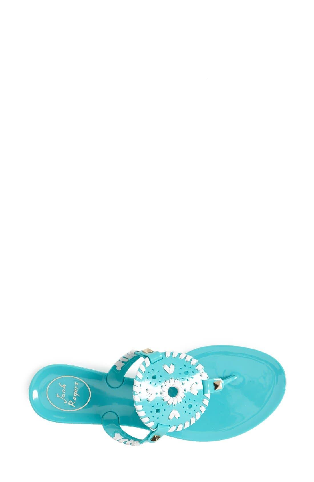 'Georgica' Jelly Flip Flop,                             Alternate thumbnail 151, color,