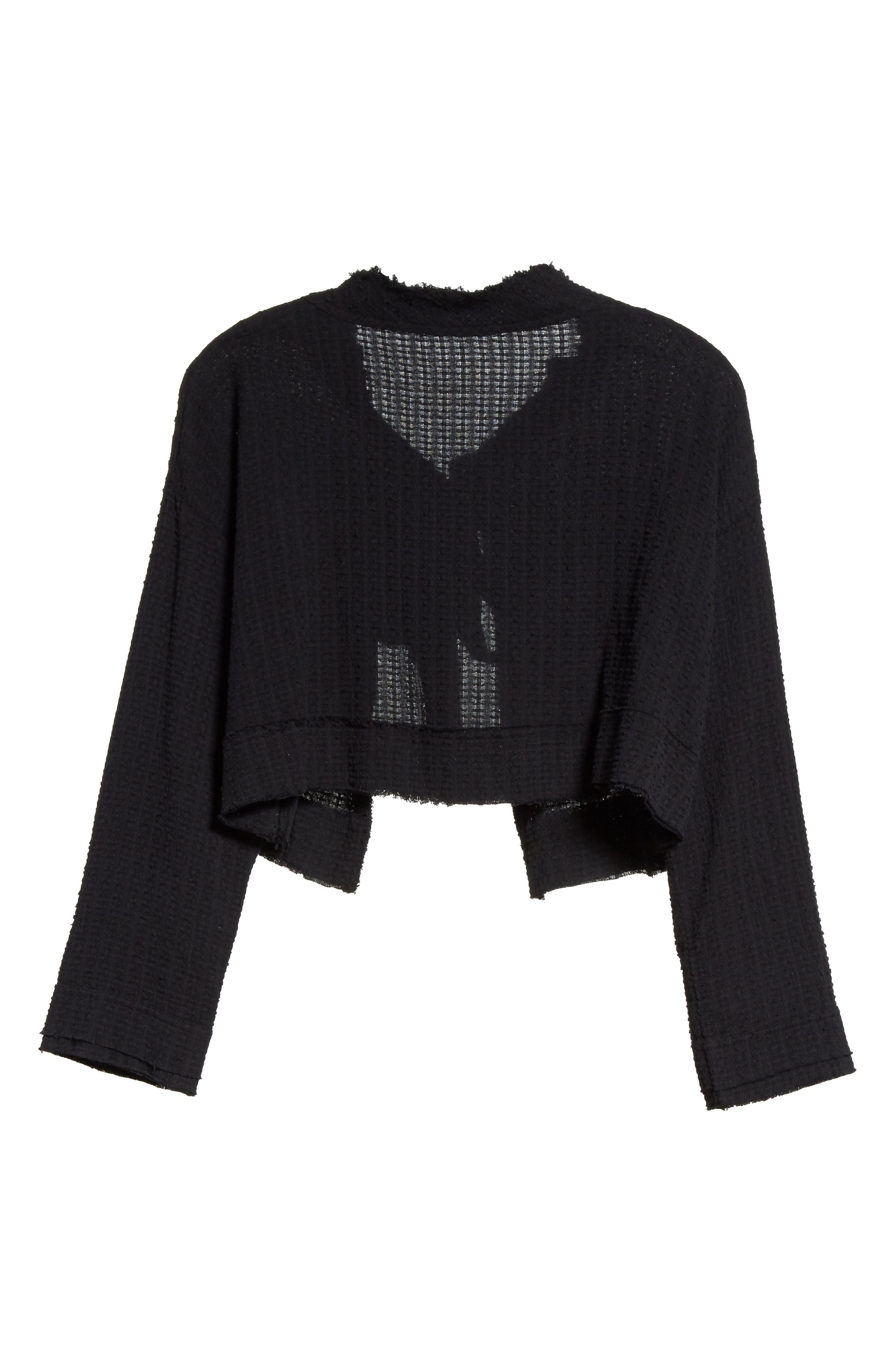 Waking in Hueco Crop Sweater,                             Alternate thumbnail 6, color,                             001