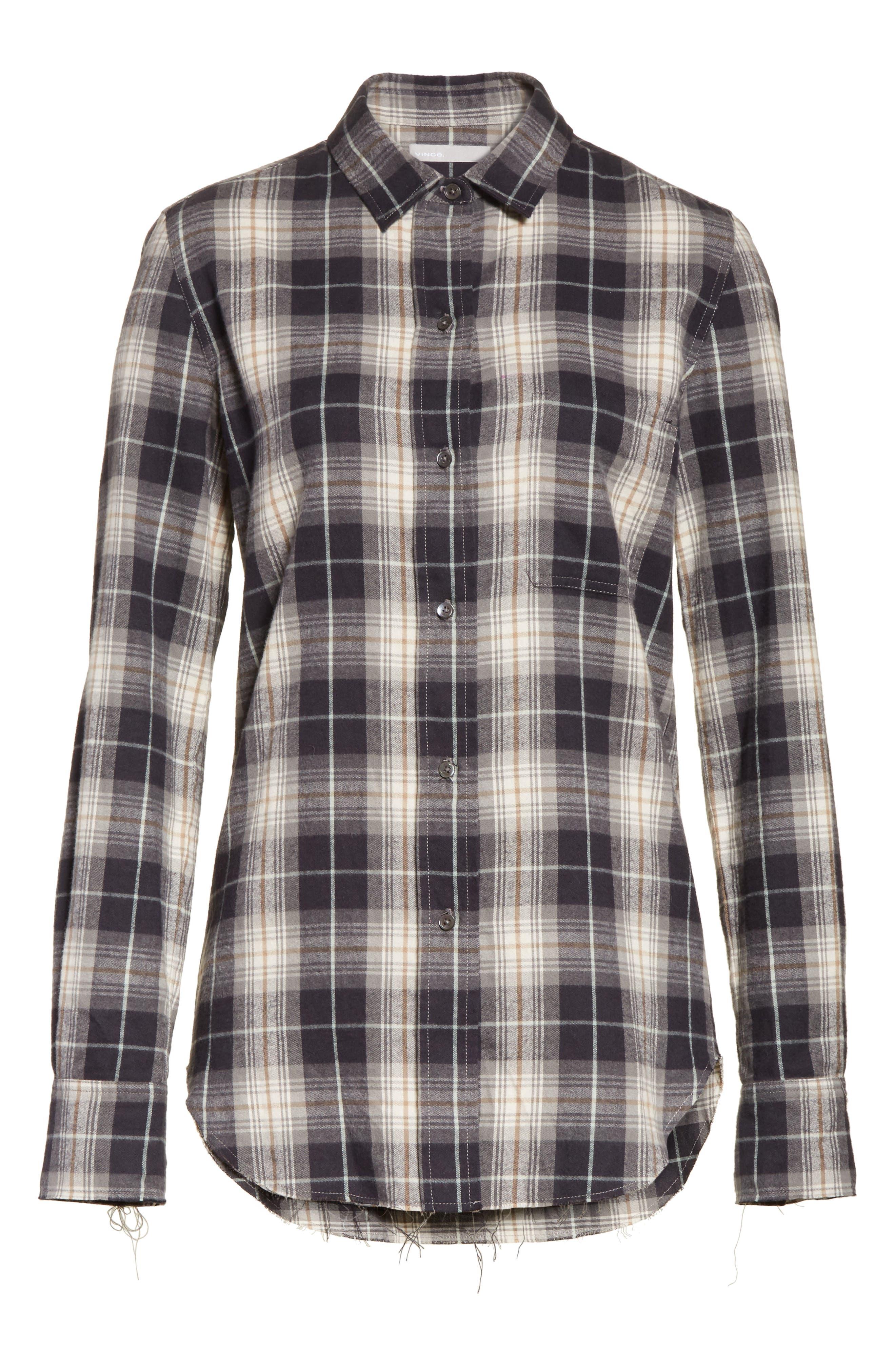 Tartan Plaid Oversize Shirt,                             Alternate thumbnail 6, color,