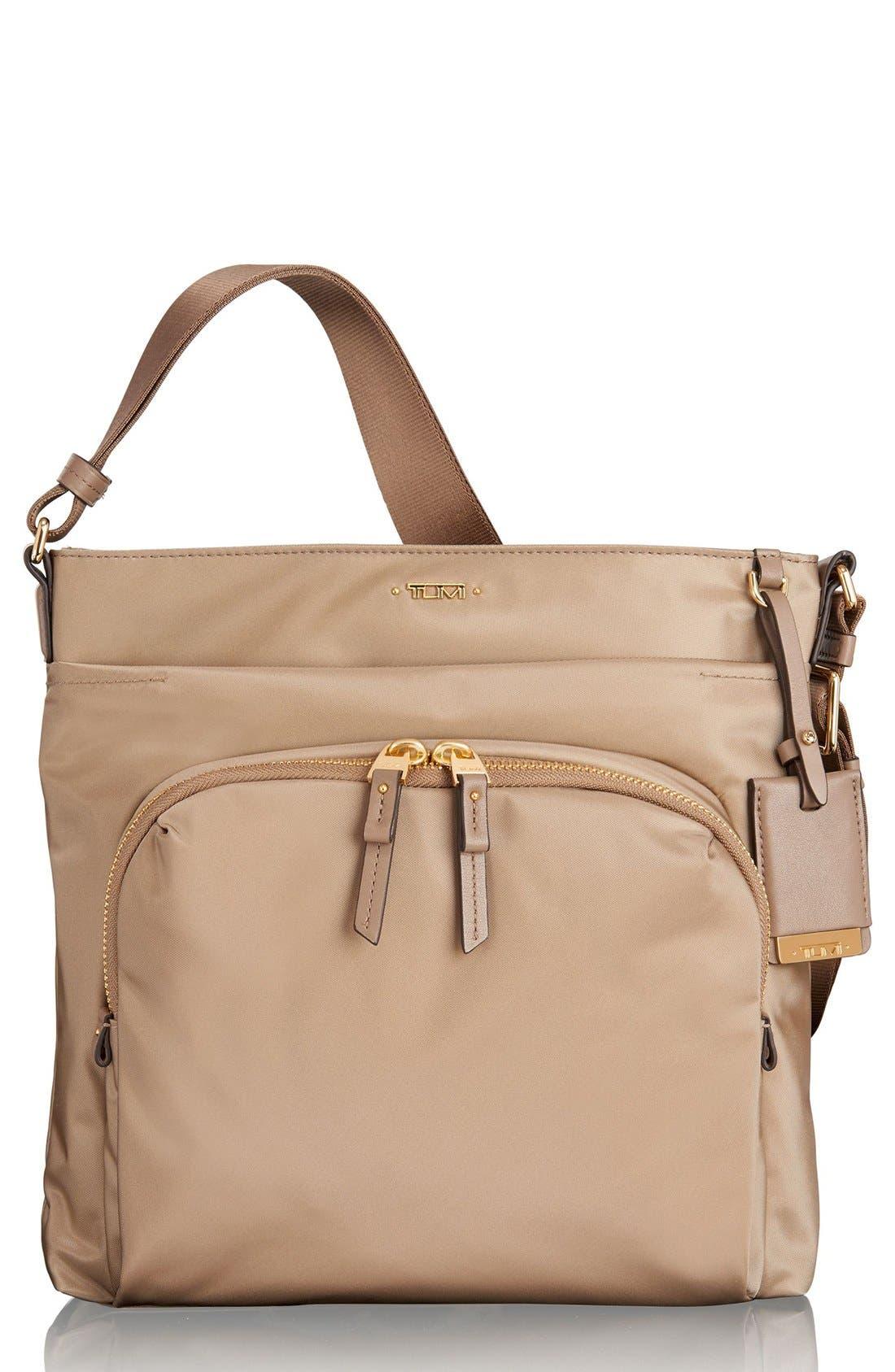 Voyageur - Capri Nylon Crossbody Bag,                             Main thumbnail 1, color,                             KHAKI