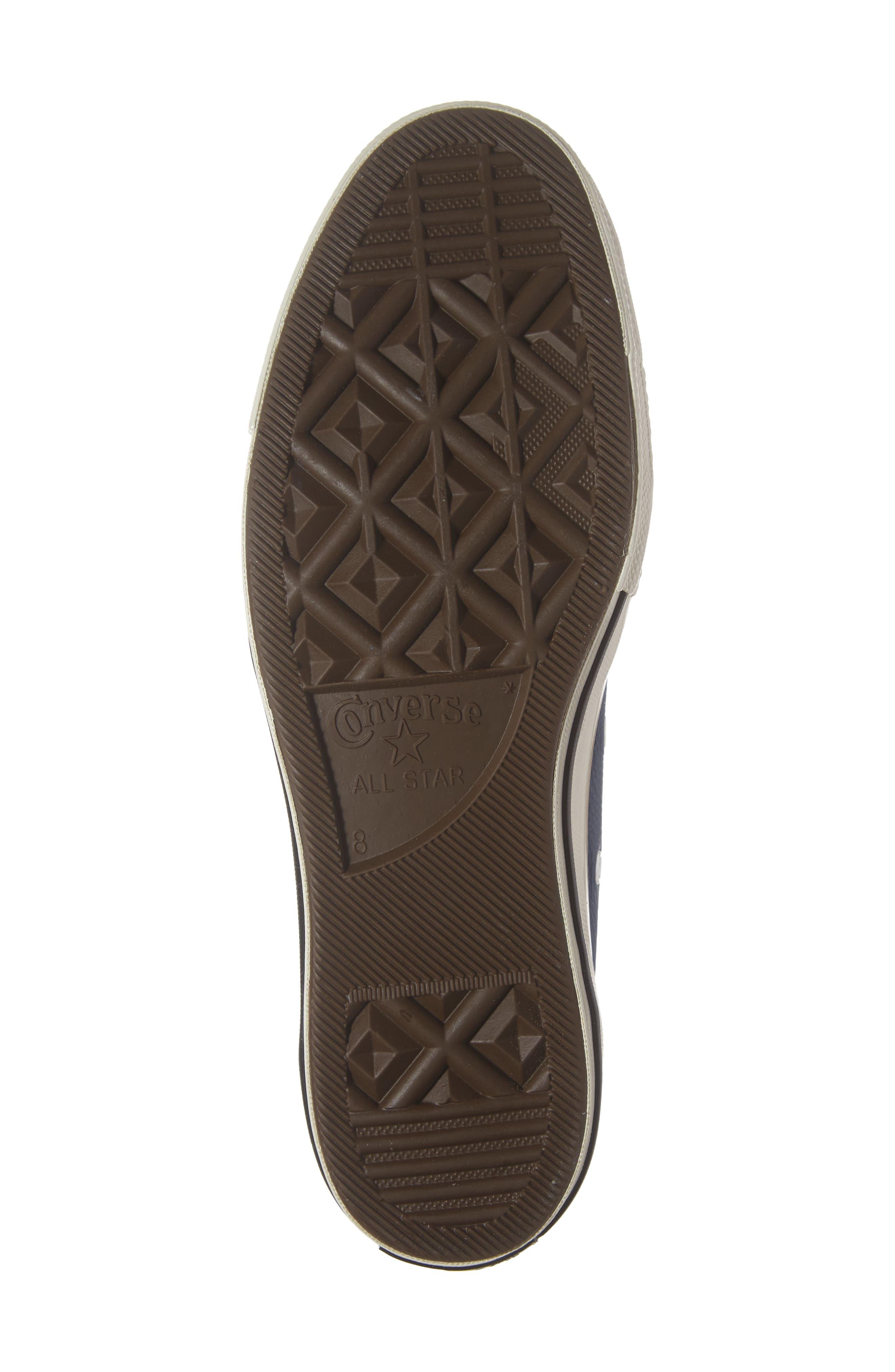 Chuck 70 Boot Leather Low Top Sneaker,                             Alternate thumbnail 6, color,                             DARK BURGUNDY/ CYAN/ EGRET