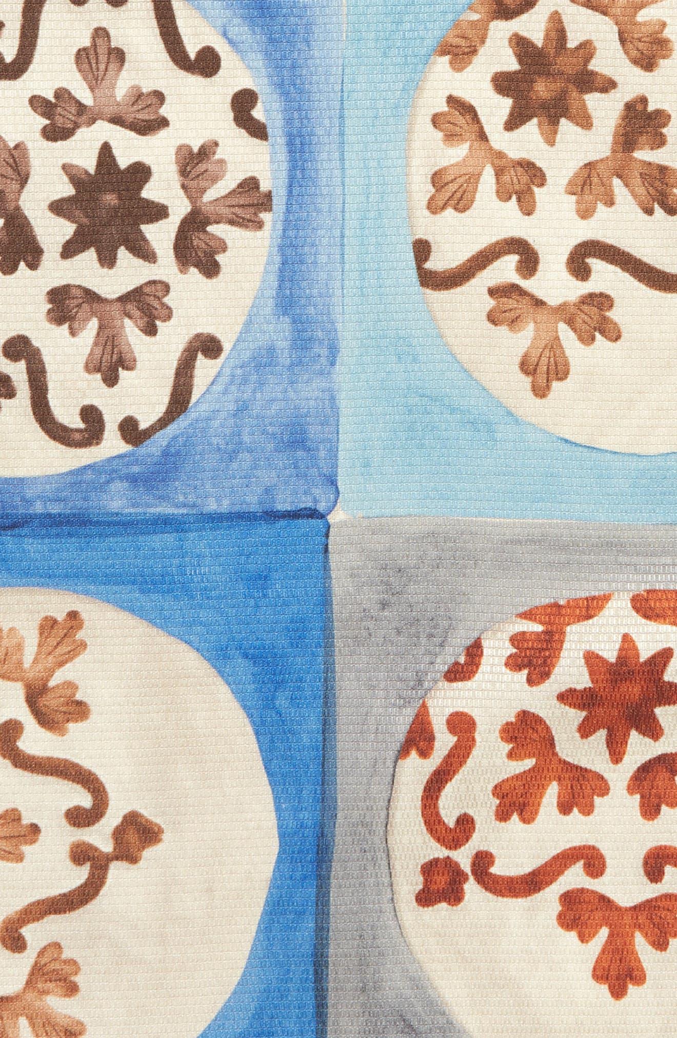 Geometric Ship Silk Pocket Square,                             Alternate thumbnail 3, color,                             020