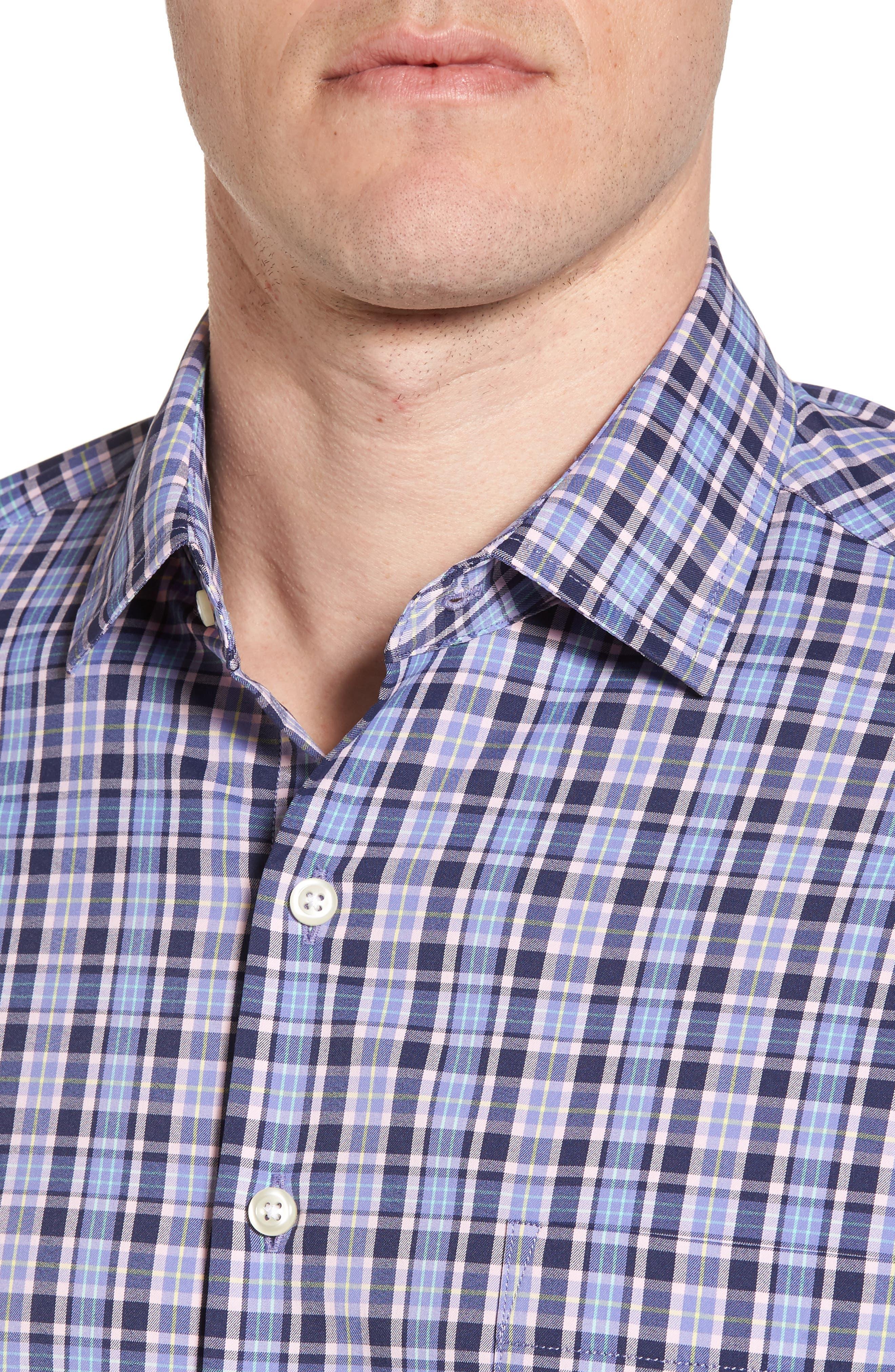 Sutter Athletic Fit Check Performance Sport Shirt,                             Alternate thumbnail 8, color,