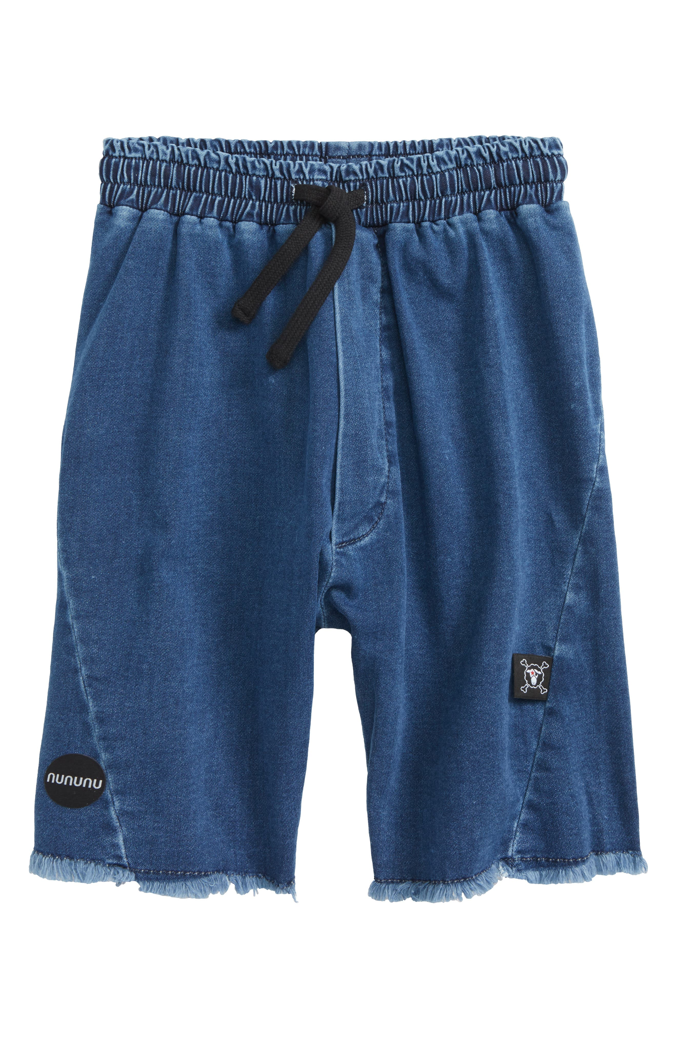 Denim Cutoff Shorts,                             Main thumbnail 1, color,                             400