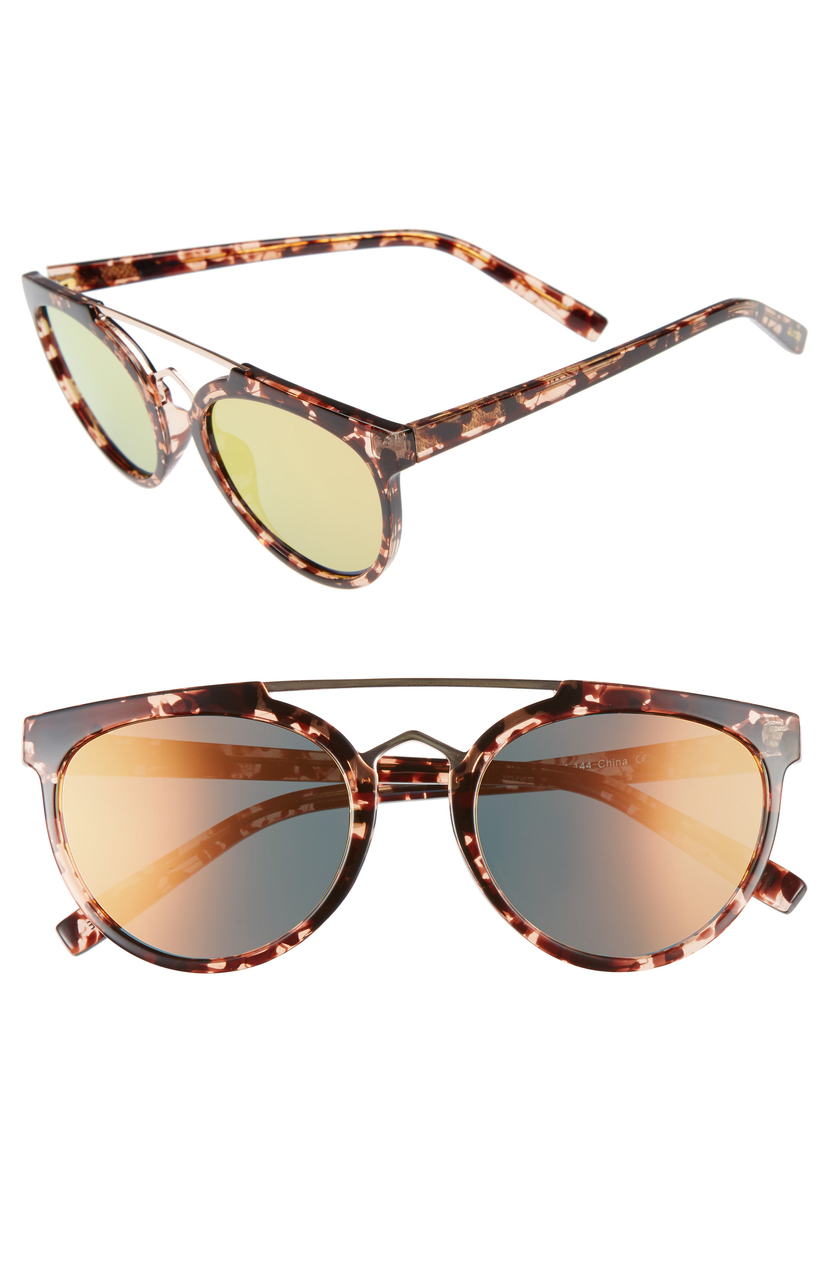 Rose 53mm Retro Sunglasses,                             Main thumbnail 3, color,
