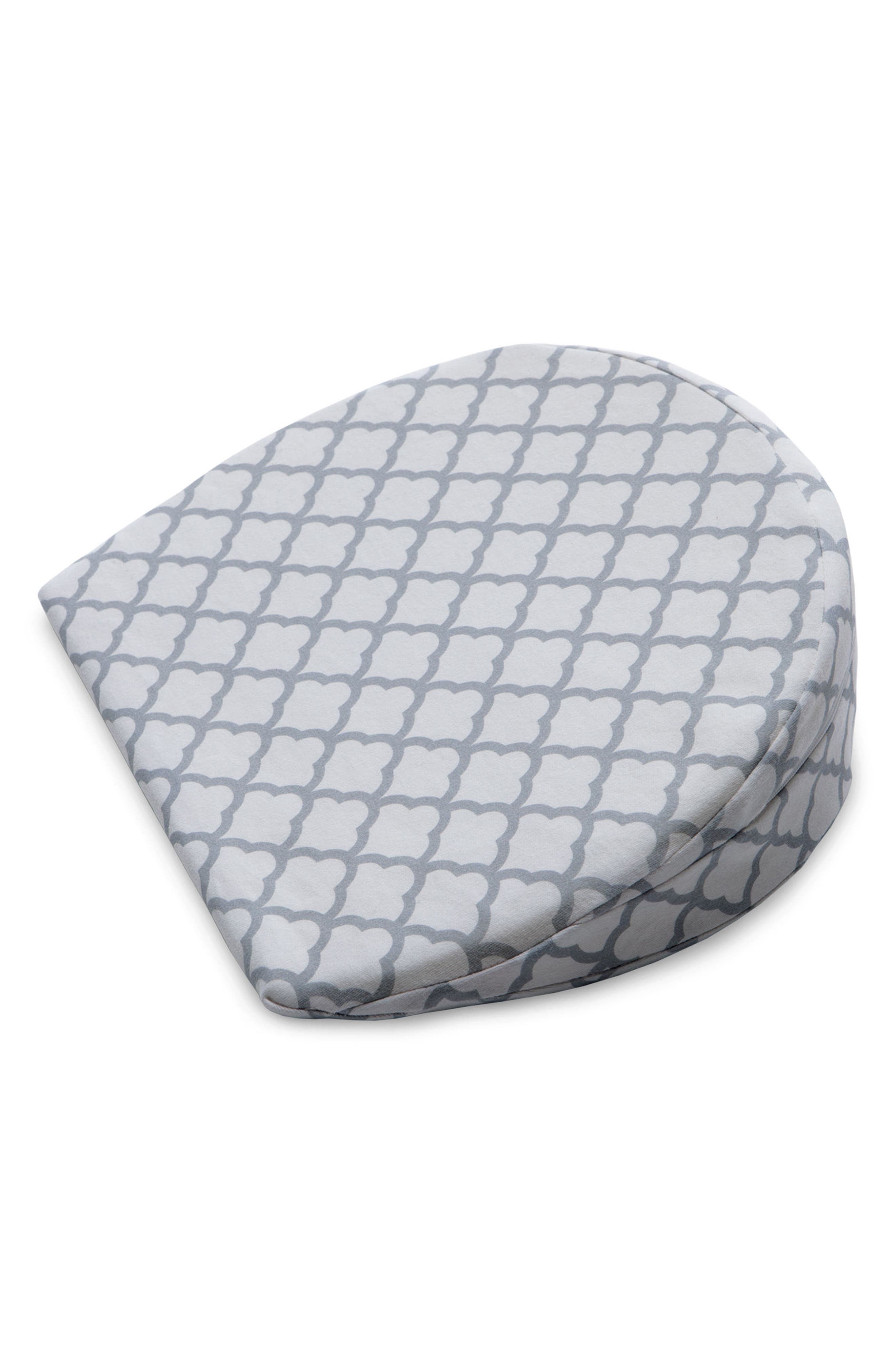 Pregnancy Wedge Cushion & Slipcover,                             Main thumbnail 1, color,                             WHITE TRELLIS