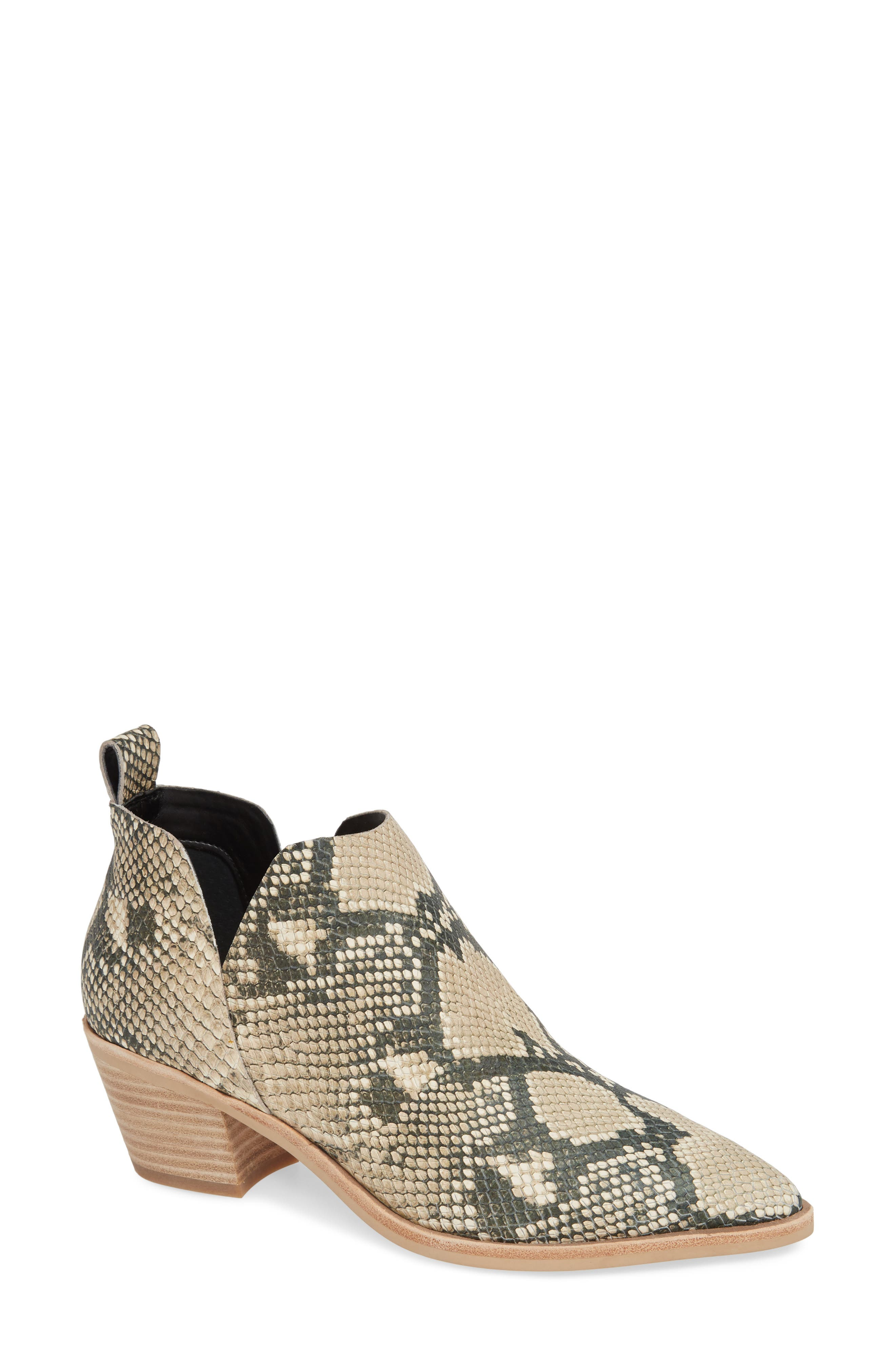 DOLCE VITA,                             Sonni Pointy Toe Bootie,                             Main thumbnail 1, color,                             SNAKE PRINT EMBOSSED LEATHER