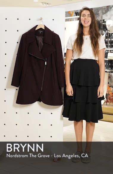 Asymmetrical Zip Wool Blend Coat, sales video thumbnail