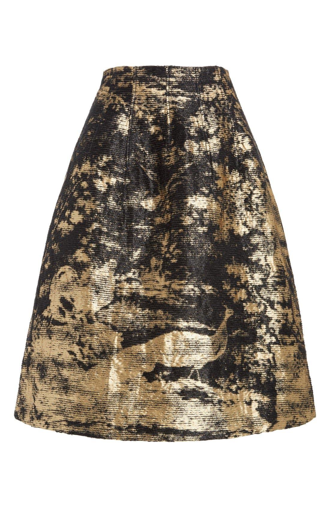 Peacock Jacquard Skirt,                             Alternate thumbnail 6, color,                             710