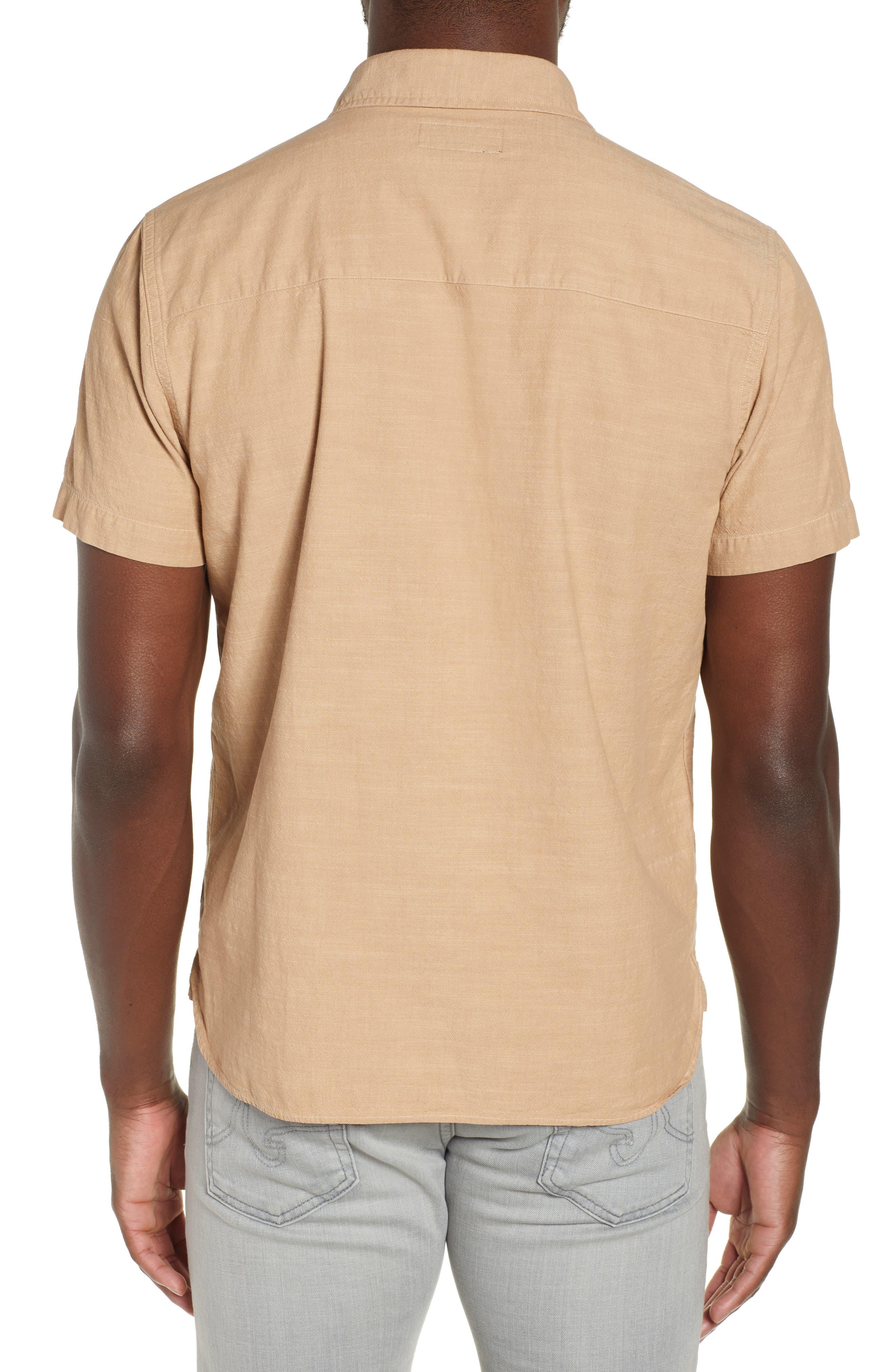 FRYE,                             Addison Chambray Woven Shirt,                             Alternate thumbnail 3, color,                             KRAFT BROWN