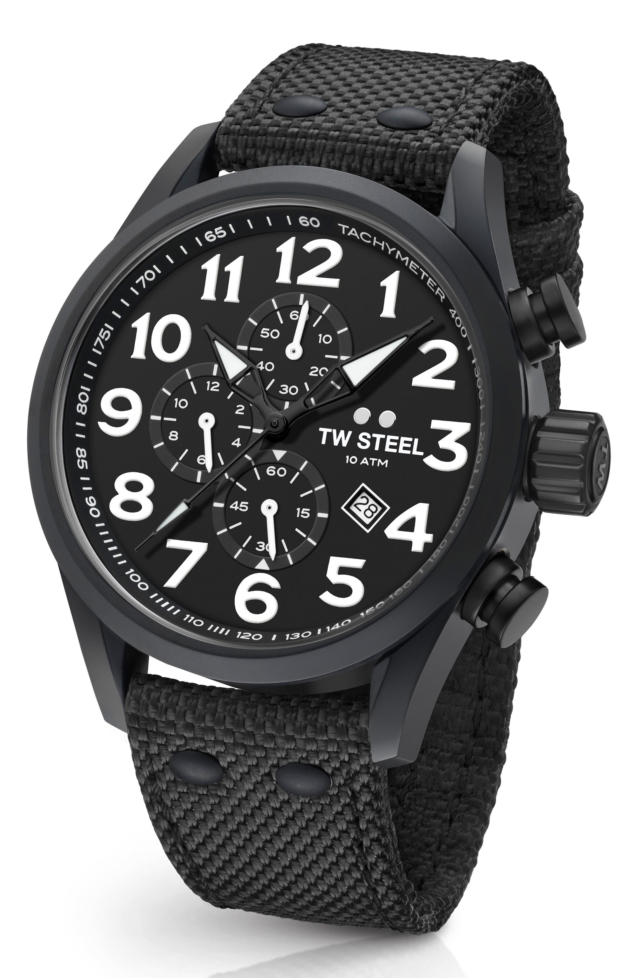 Volante Chronograph Web Strap Watch, 45mm,                         Main,                         color, 001