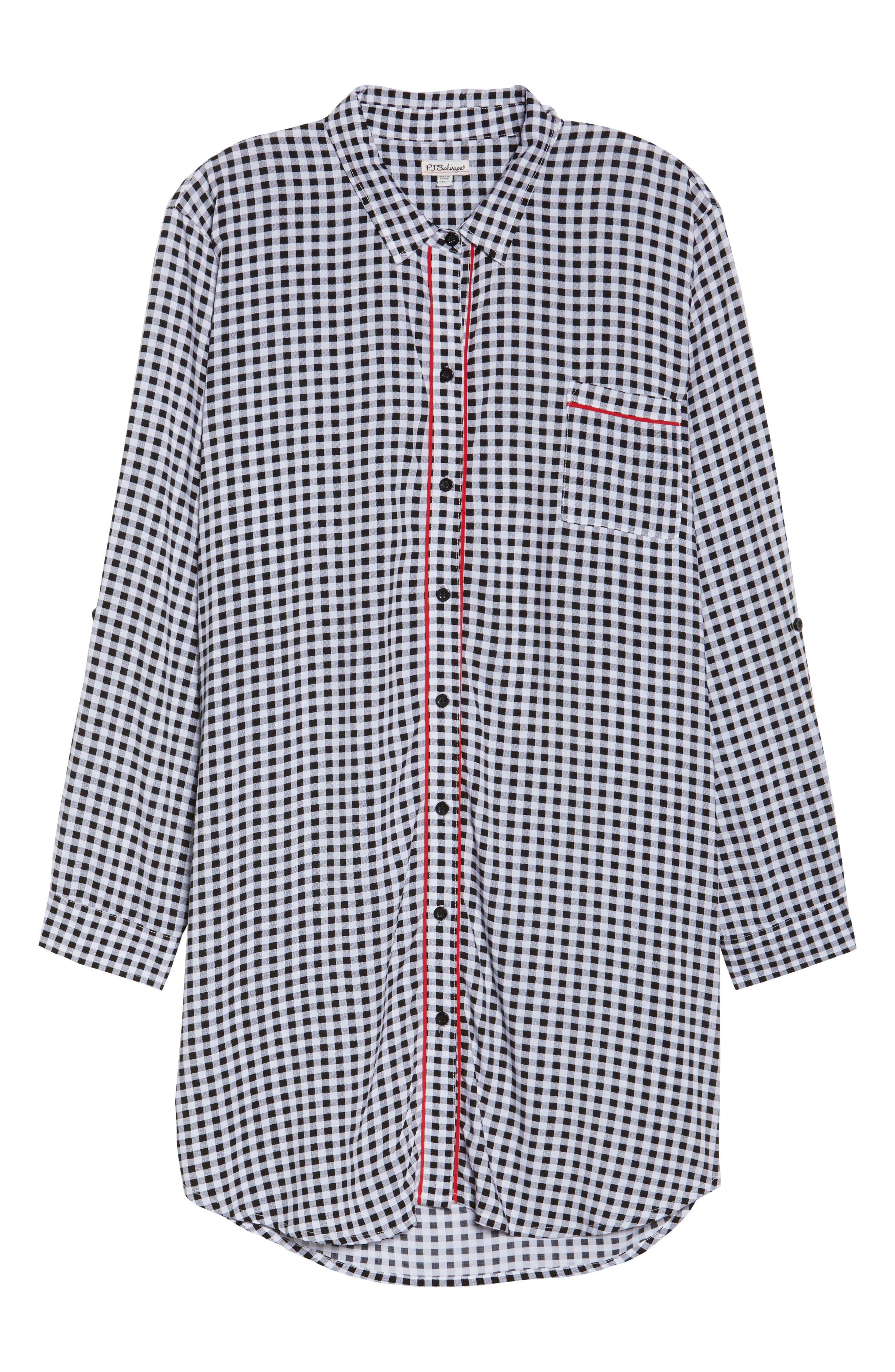 Gingham Sleep Shirt,                             Alternate thumbnail 6, color,