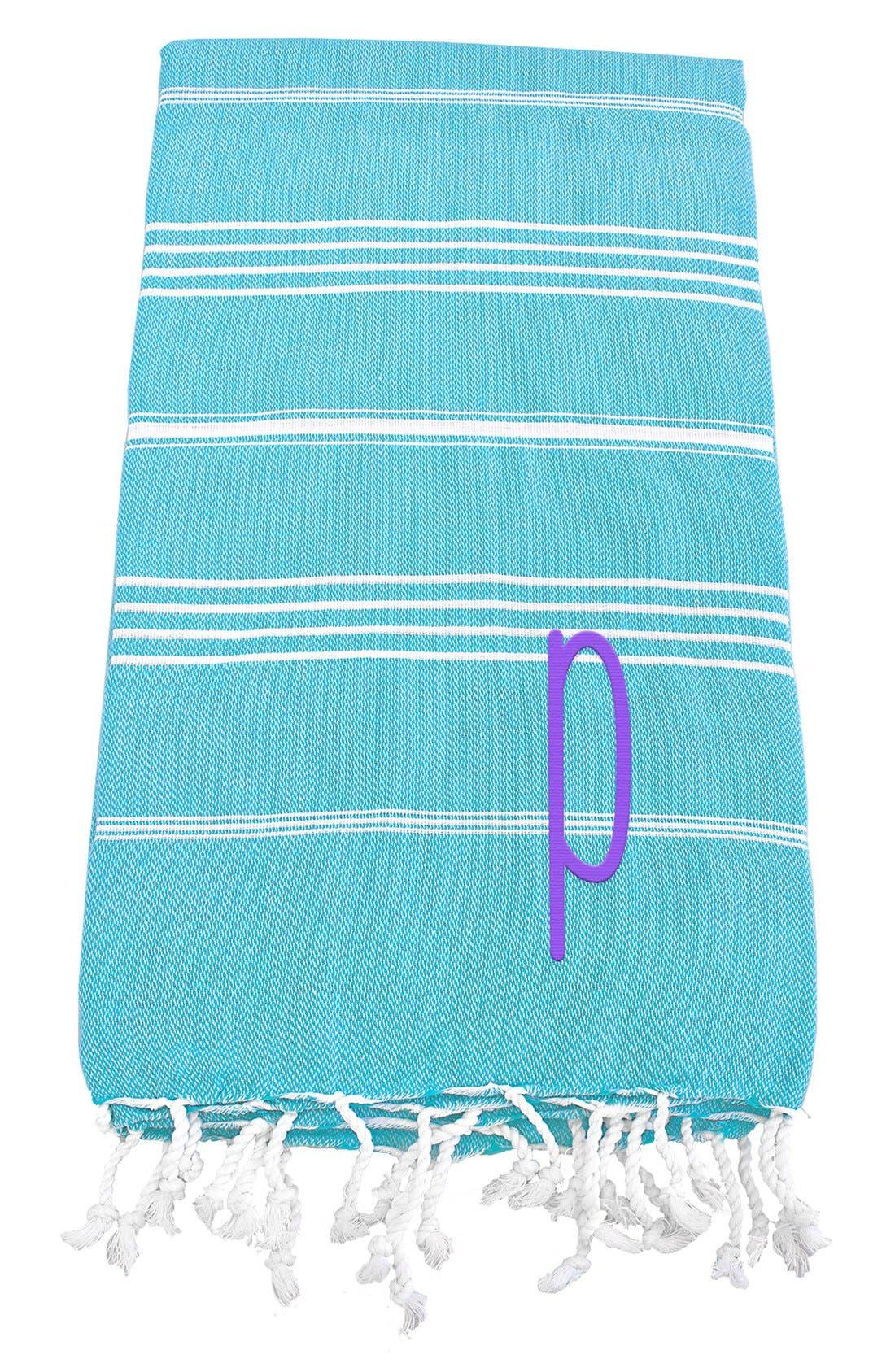 Monogram Turkish Cotton Towel,                             Main thumbnail 98, color,