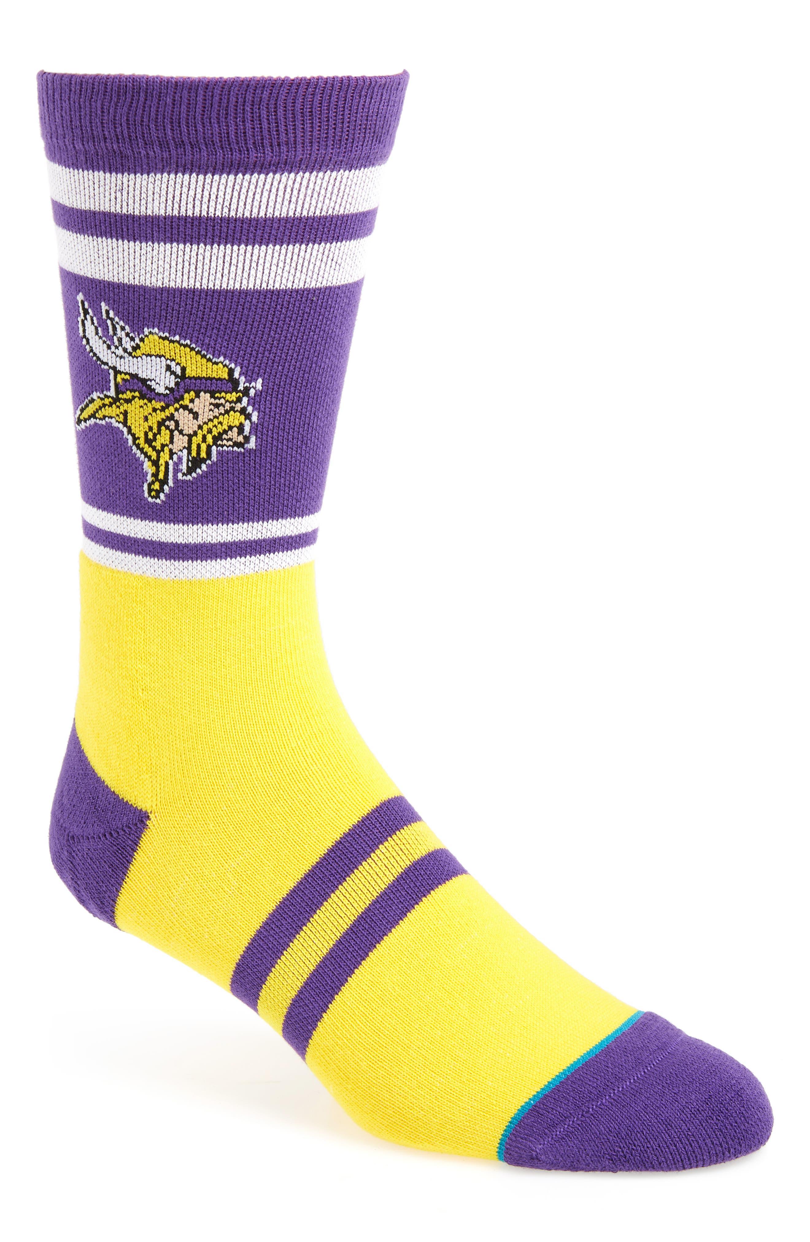 Minnesota Vikings Socks,                             Main thumbnail 1, color,                             510