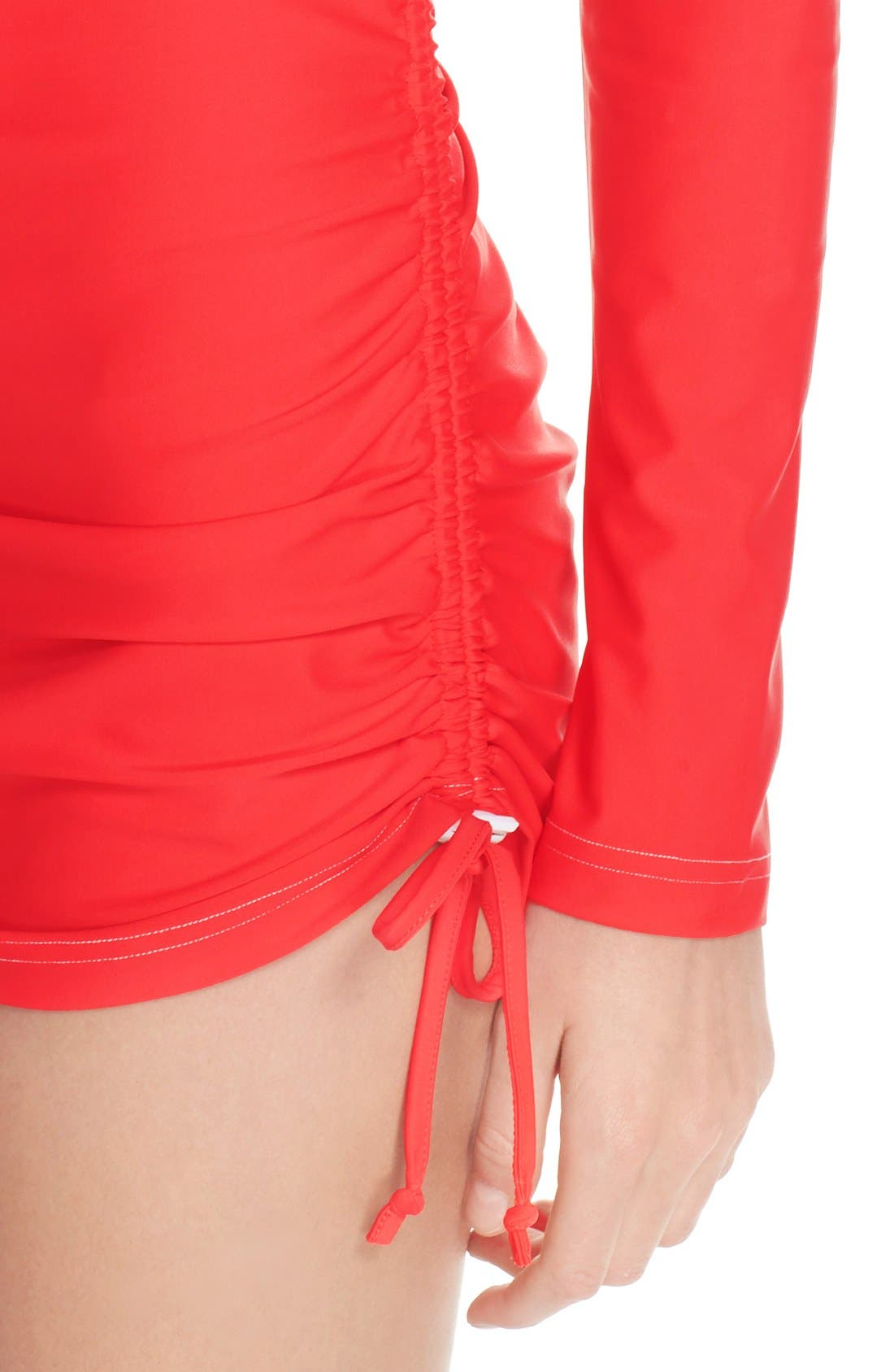 'Sonja' Long Sleeve Half Zip Convertible Swimdress,                             Alternate thumbnail 31, color,