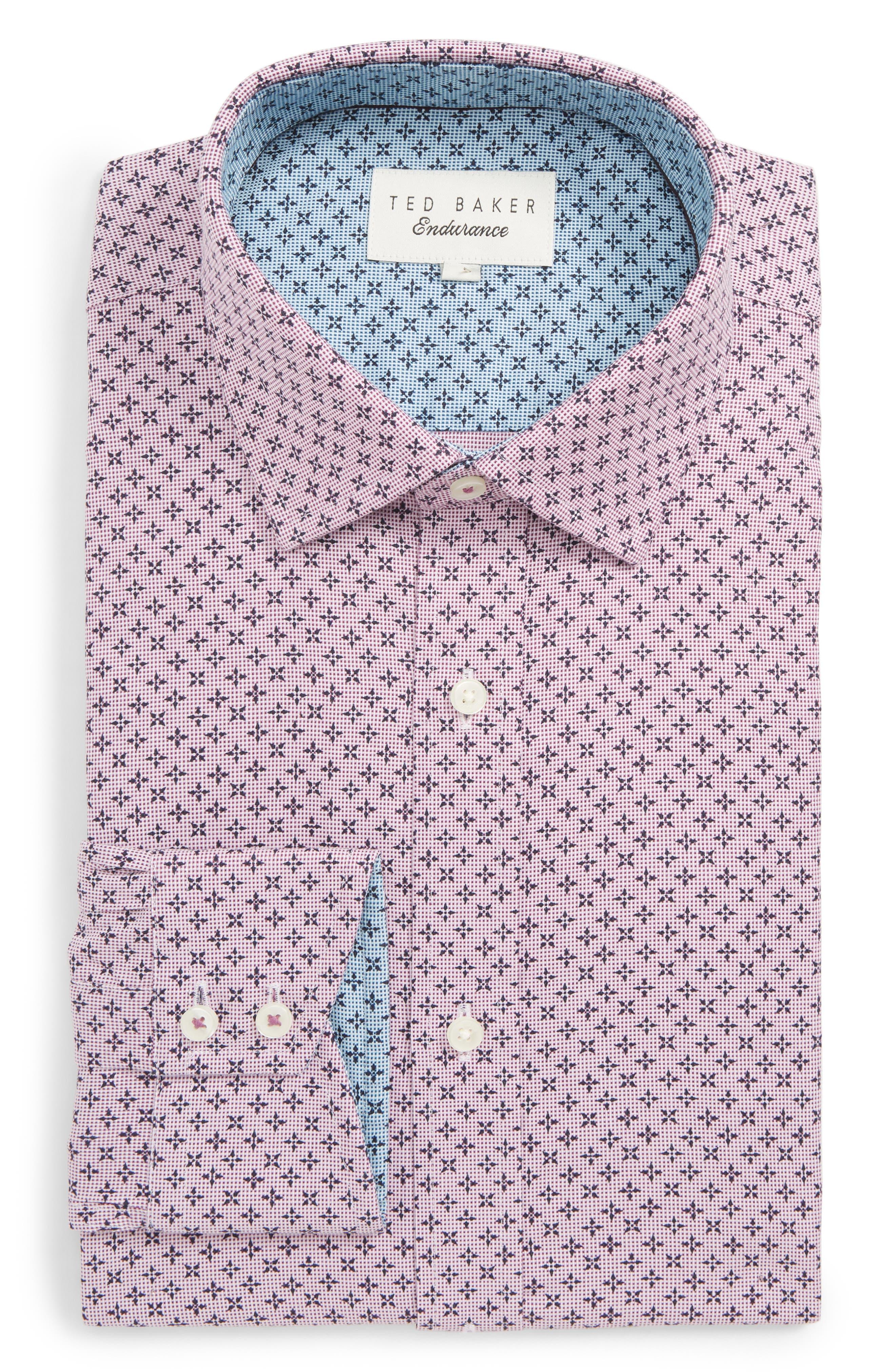 Bodder Trim Fit Print Dress Shirt,                         Main,                         color, 601