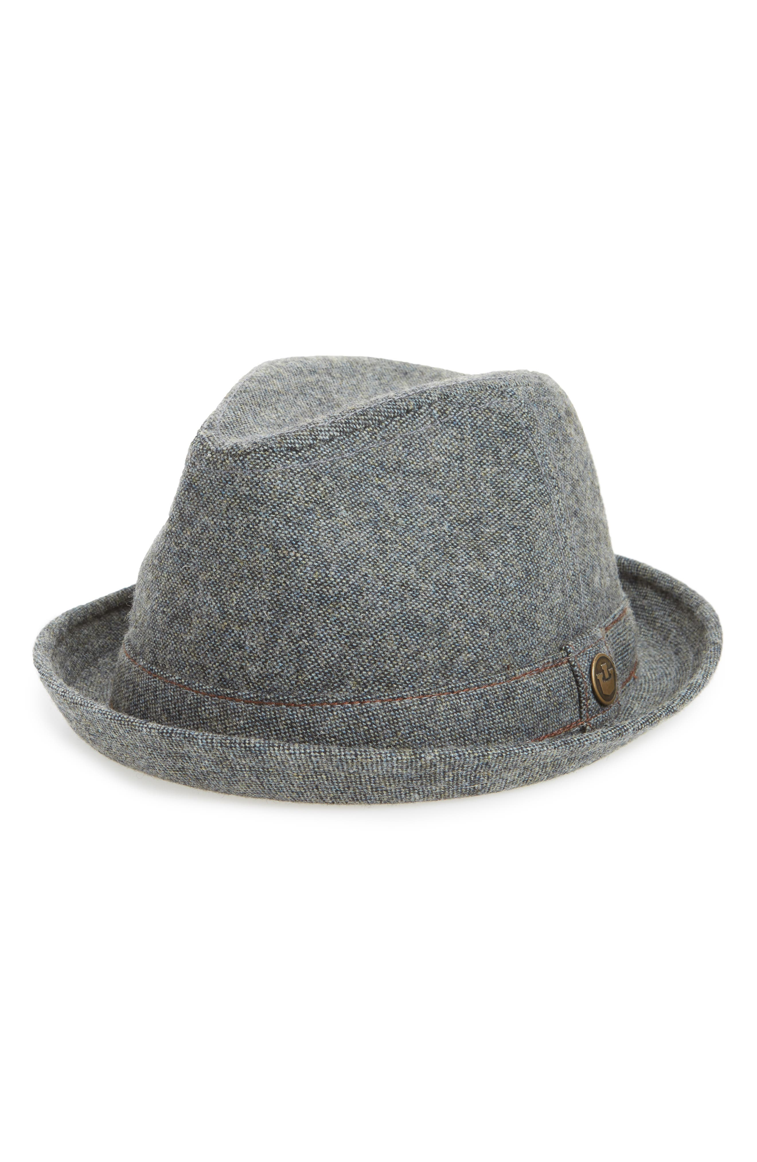 The Barber Wool Blend Fedora,                         Main,                         color, 054