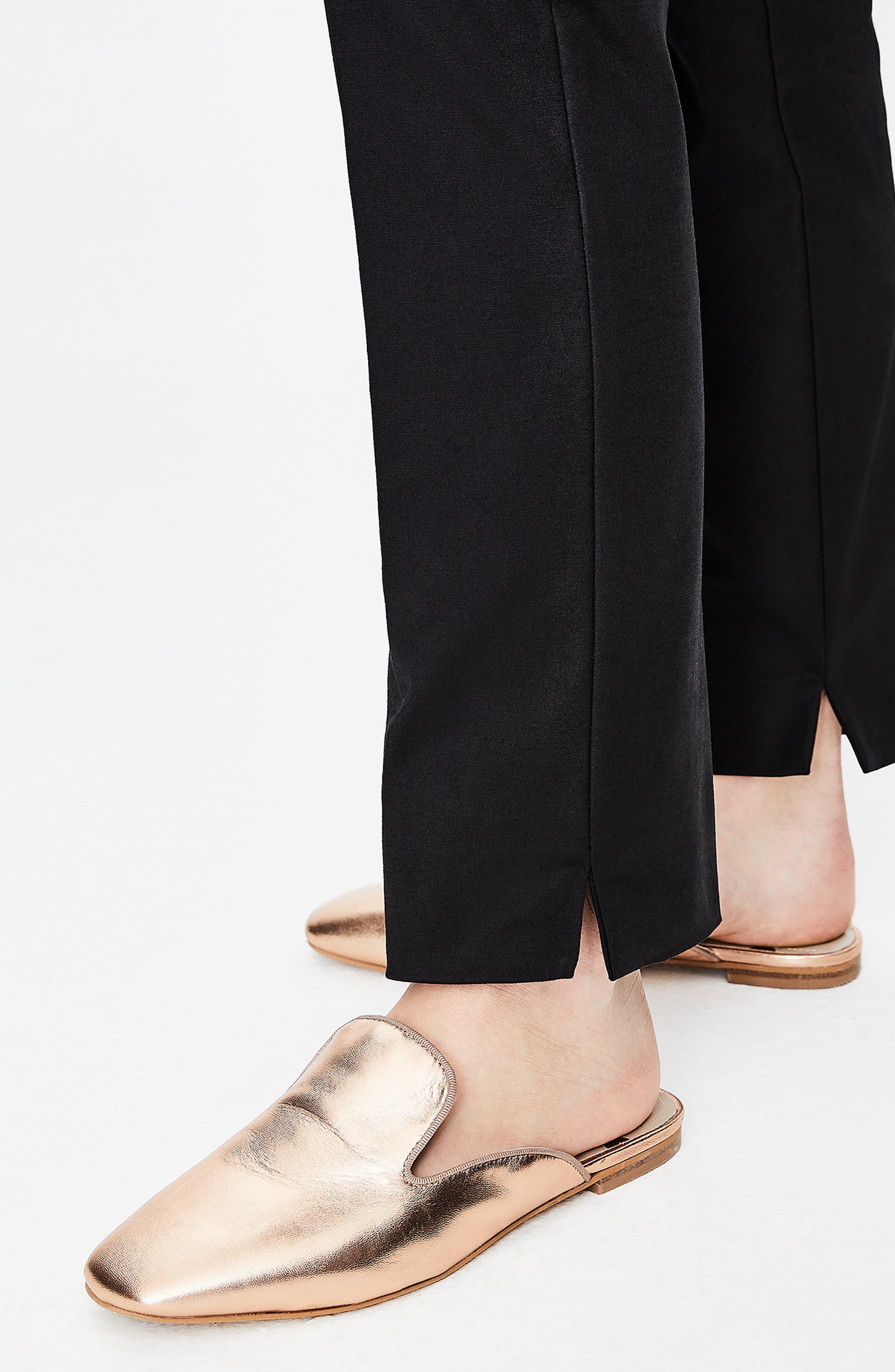 Richmond Stretch Cotton Trousers,                             Alternate thumbnail 6, color,                             BLACK