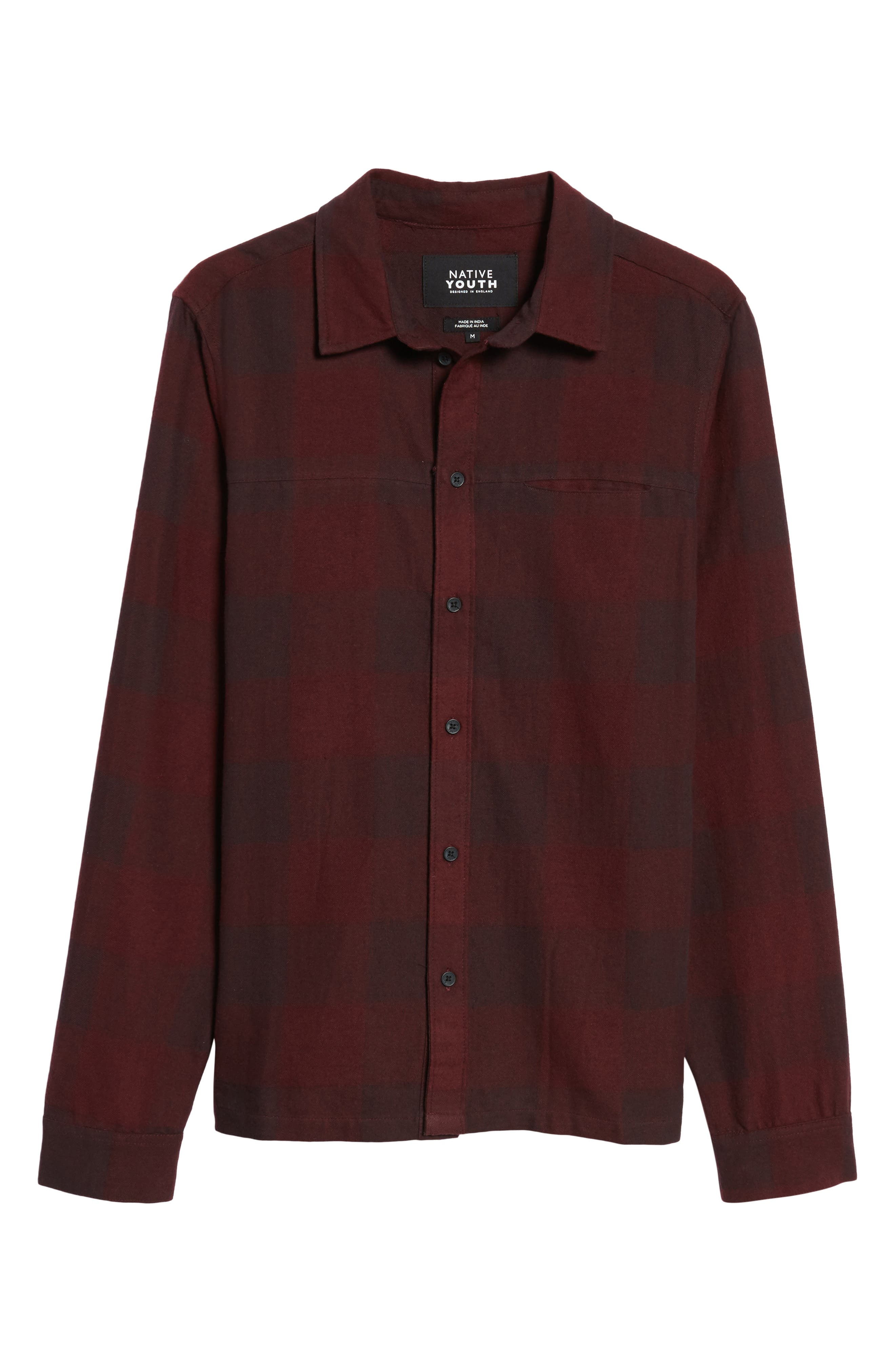 Chalgrove Buffalo Plaid Flannel Sport Shirt,                             Alternate thumbnail 6, color,                             930