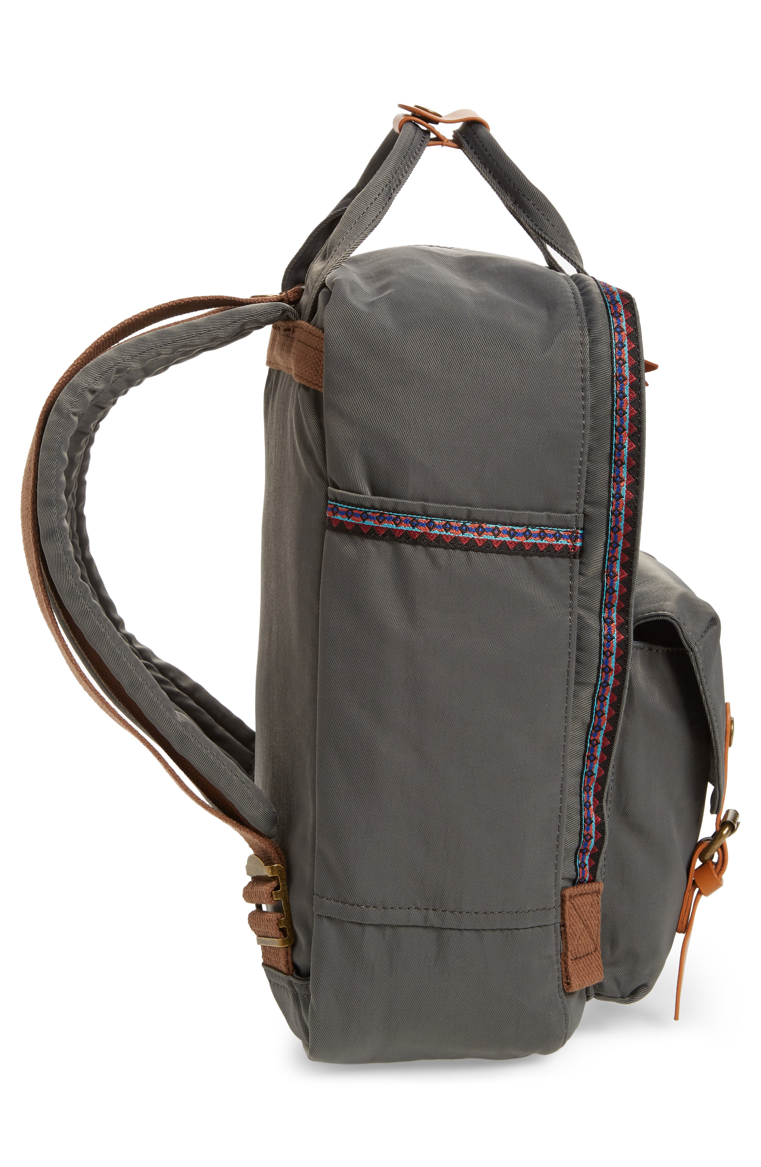 Macaroon Bo-He Water Resistant Backpack,                             Alternate thumbnail 5, color,                             CHARCOAL
