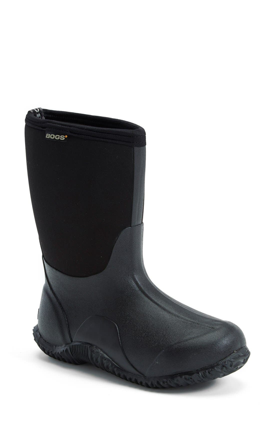 Classic Mid Waterproof Snow Boot,                             Main thumbnail 1, color,                             001