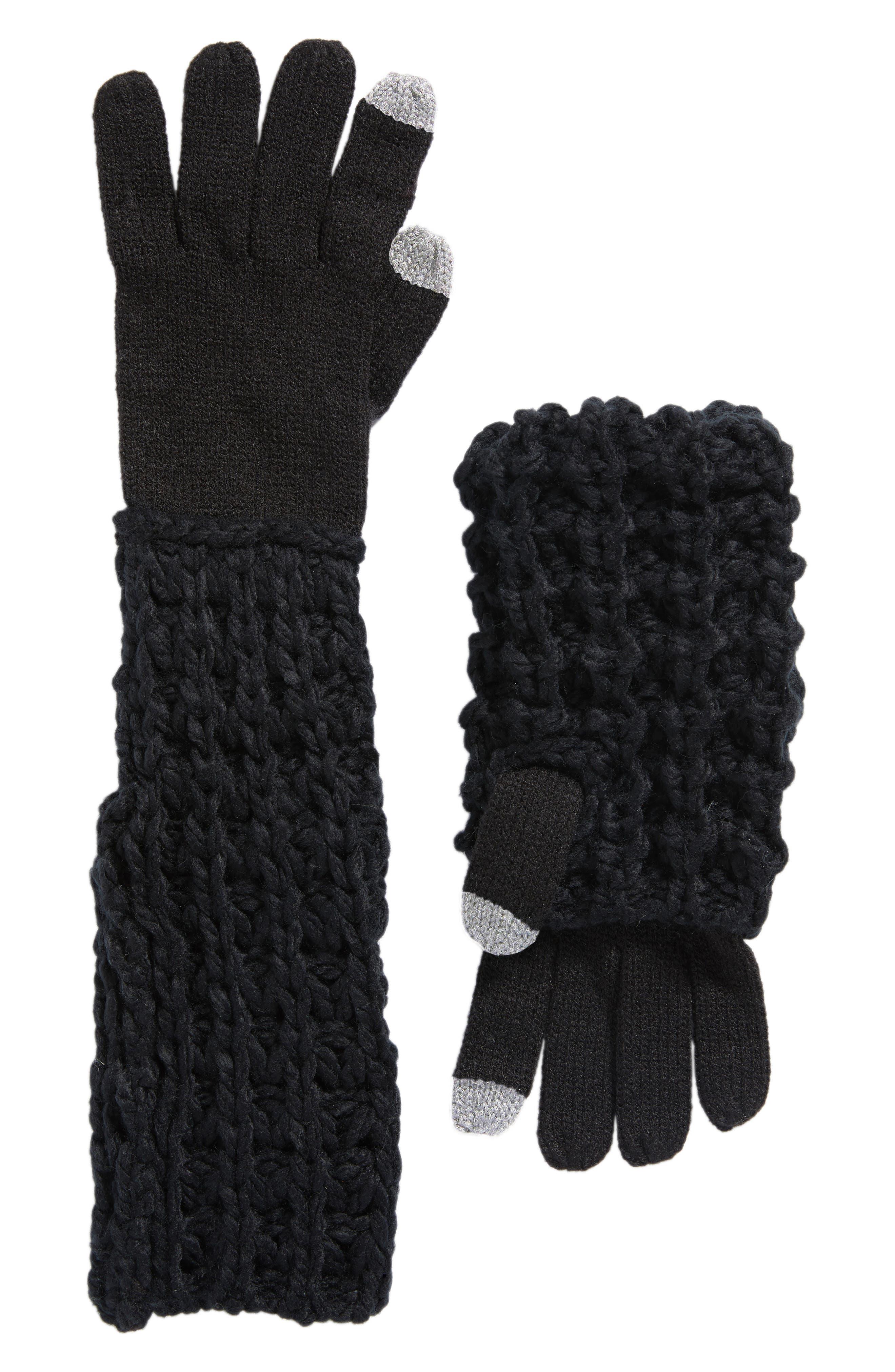 Chunky Tuck Gloves,                             Main thumbnail 1, color,                             001