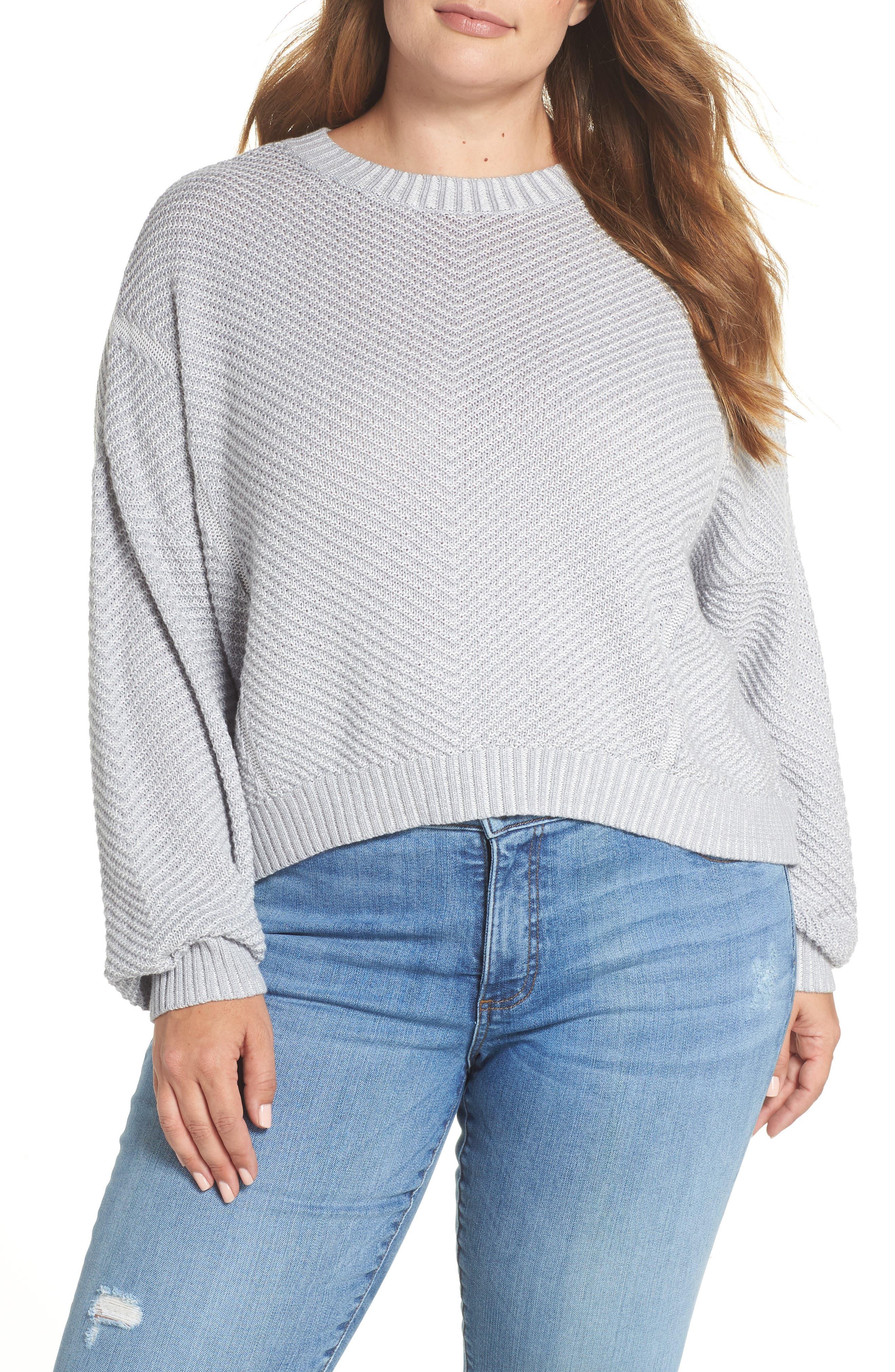 Plaited Drop Shoulder Sweater,                             Alternate thumbnail 2, color,                             050