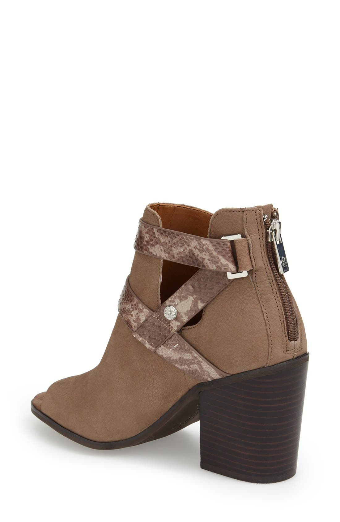 'Caraleigh' Peep Toe Bootie,                             Alternate thumbnail 2, color,                             741