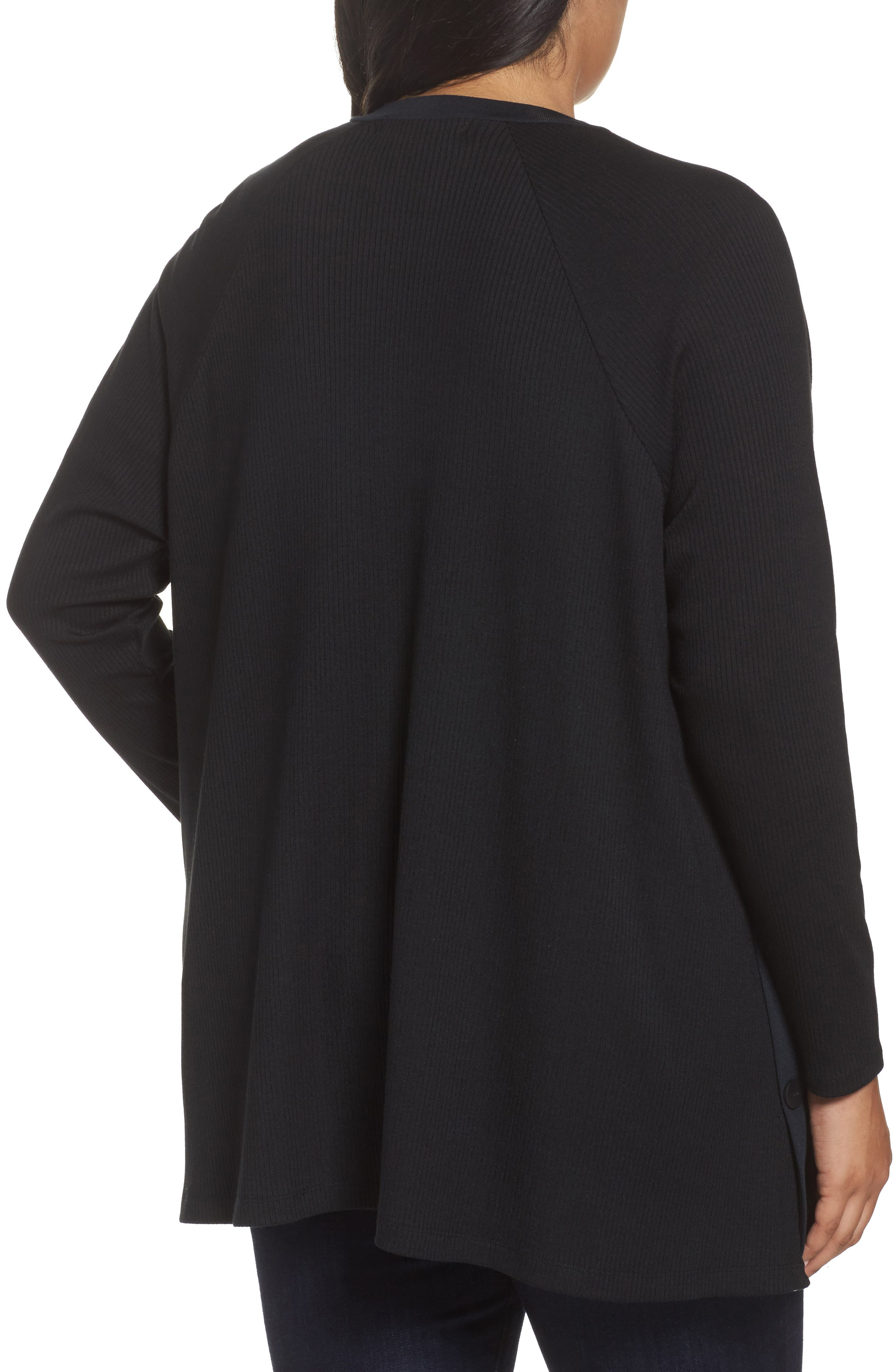 Easy Long Open Front Cardigan,                             Alternate thumbnail 2, color,                             001
