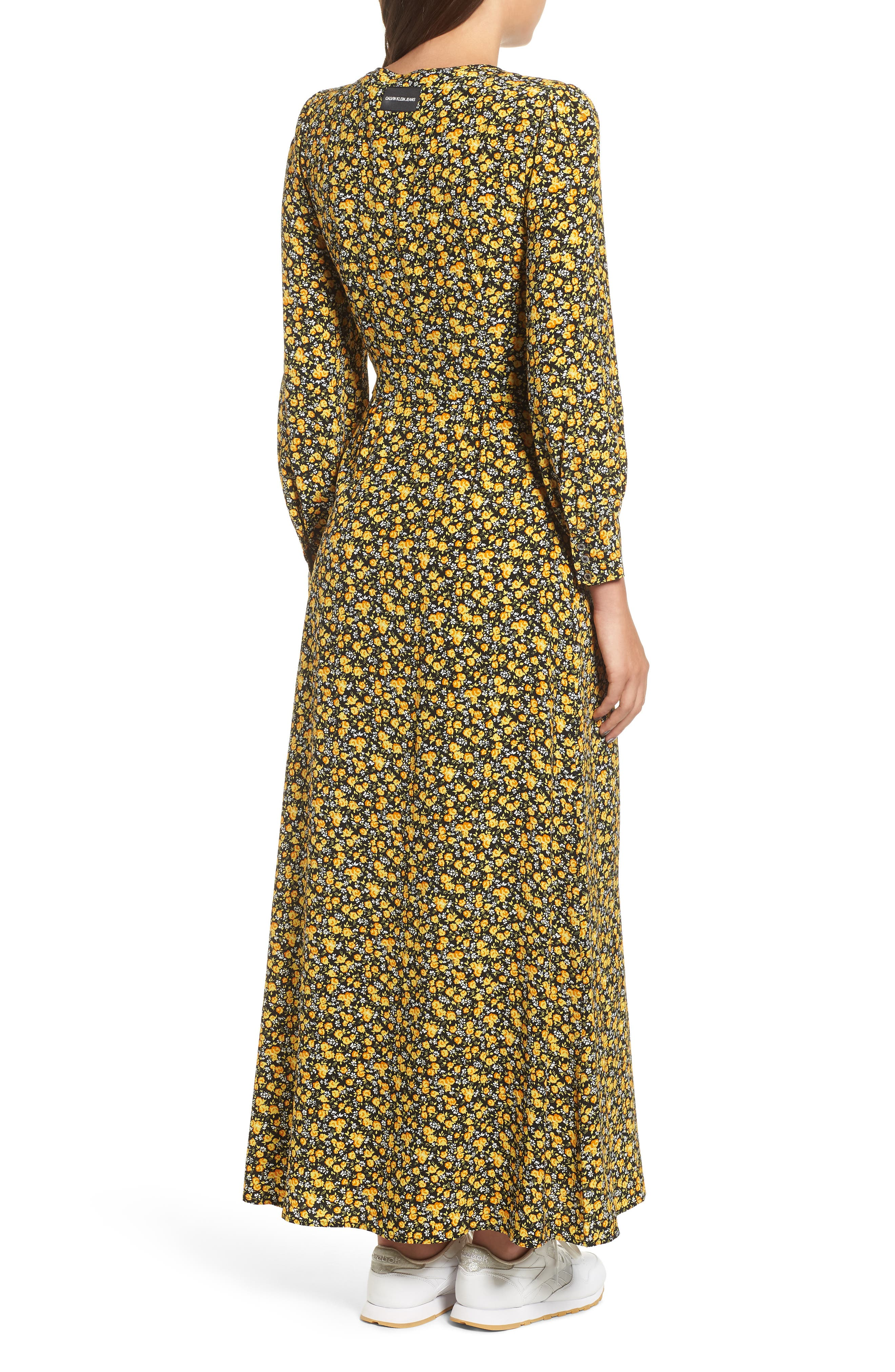 Ditzy Floral Dress,                             Alternate thumbnail 2, color,                             DITSY FLOWER