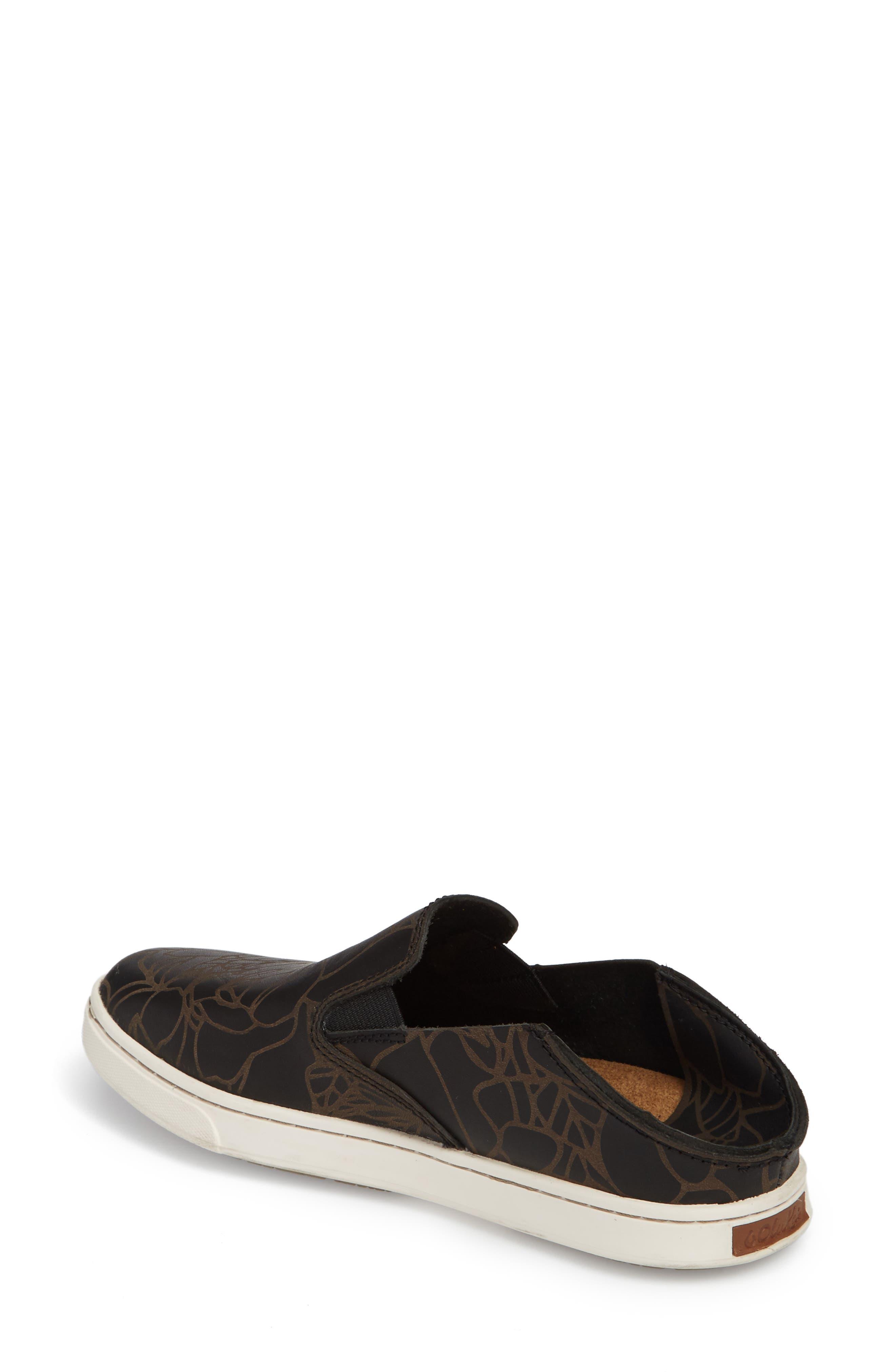 Pehuea Lau Slip-On Sneaker,                             Alternate thumbnail 3, color,                             BLACK/ BLACK FABRIC