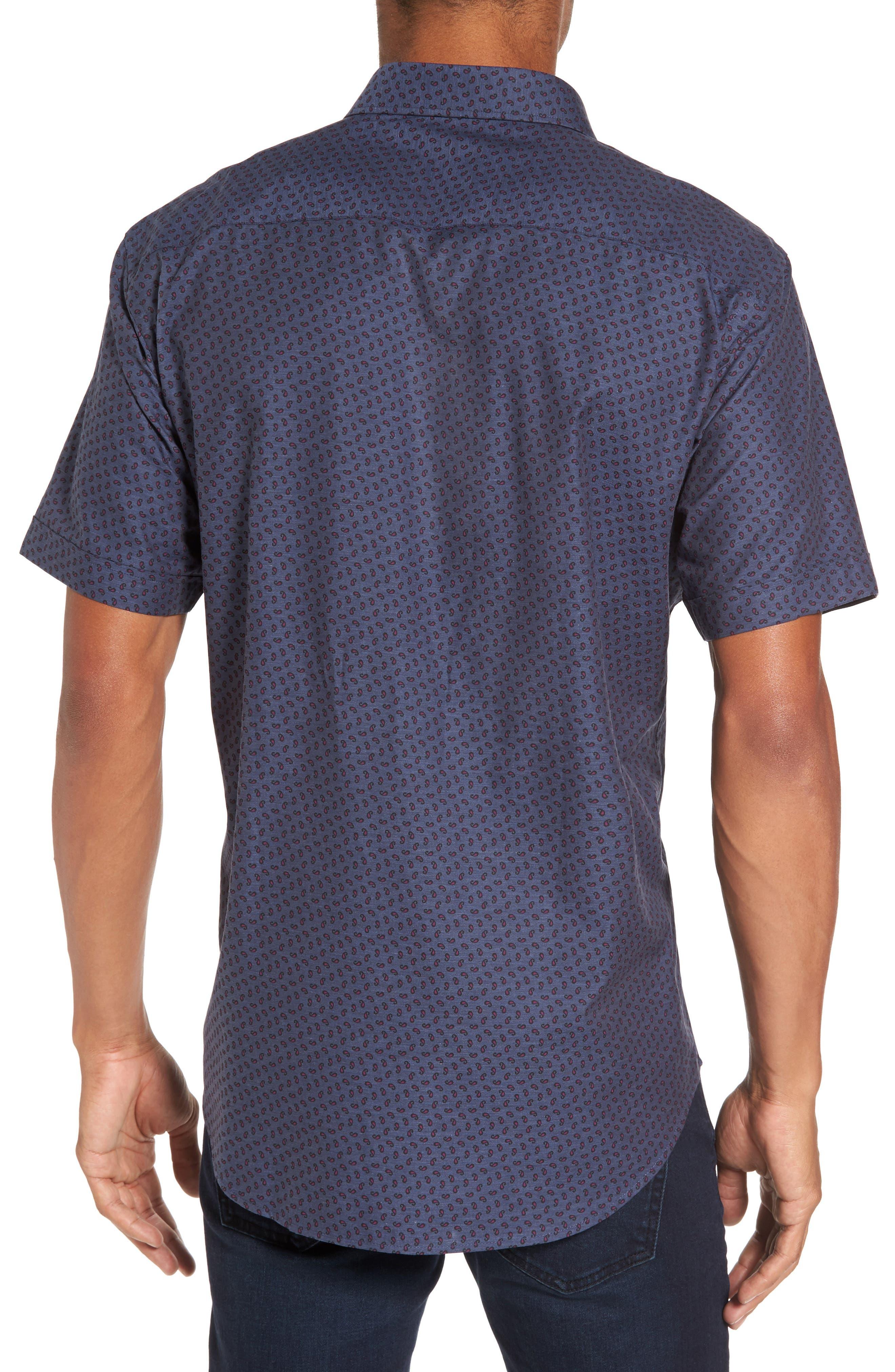 Shaped Fit Print Sport Shirt,                             Alternate thumbnail 2, color,                             030