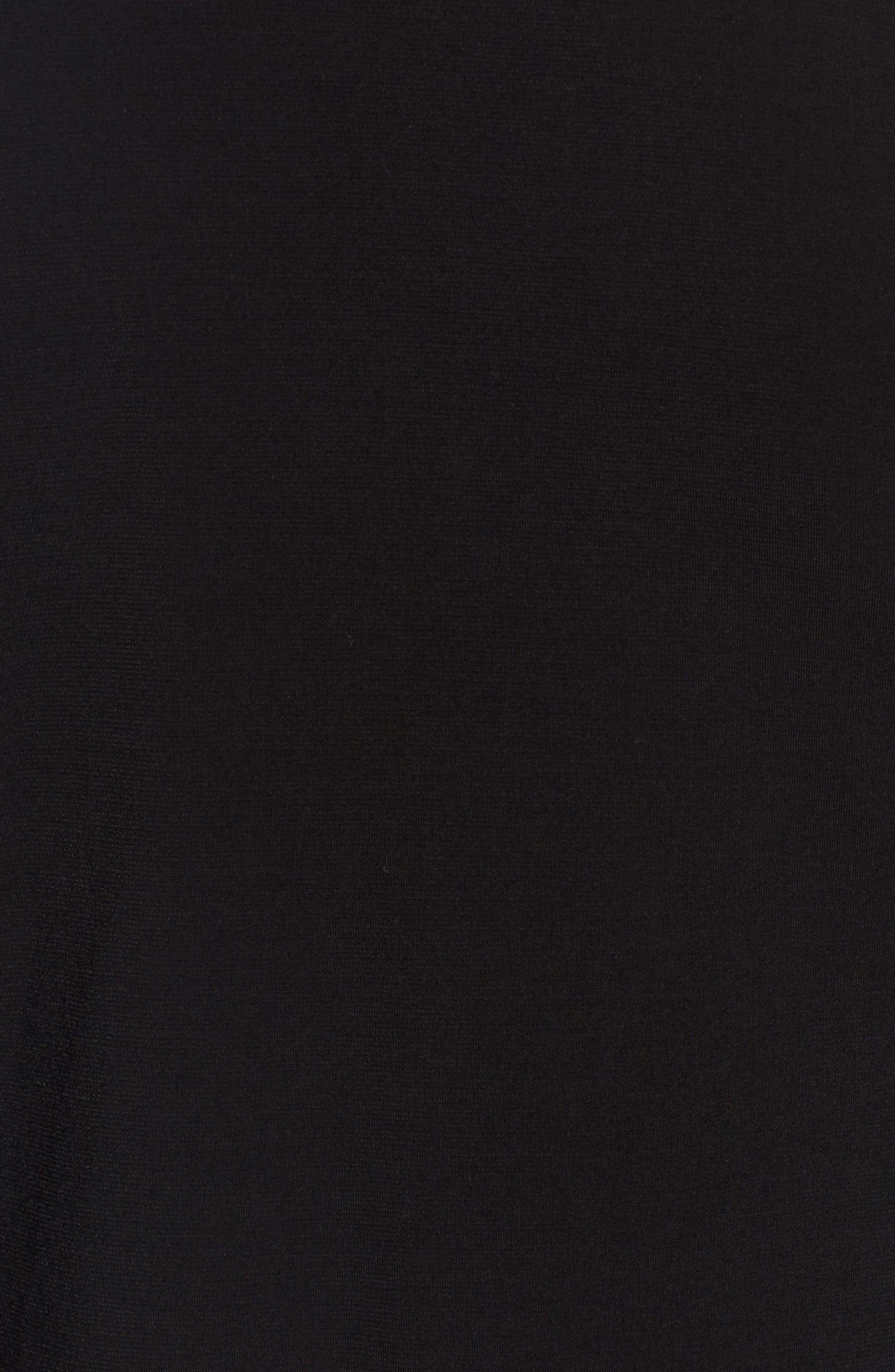 Grommet Lace Shift Dress,                             Alternate thumbnail 5, color,                             001
