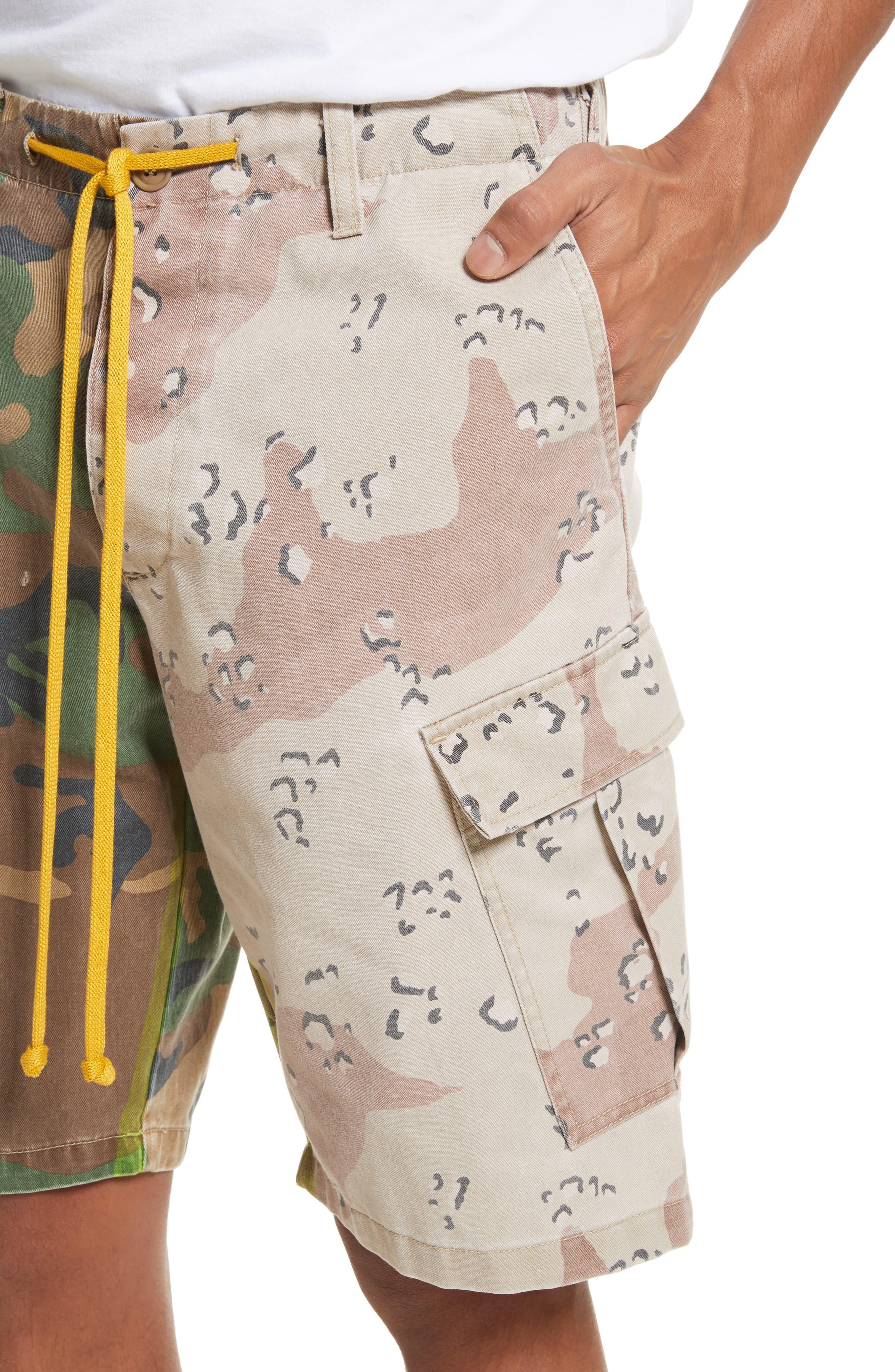 Anasi Camo Cargo Shorts,                             Alternate thumbnail 4, color,                             247