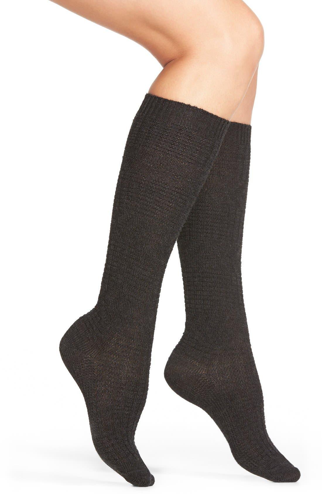 'Wheat Fields' Merino Wool Blend Socks, Main, color, 030