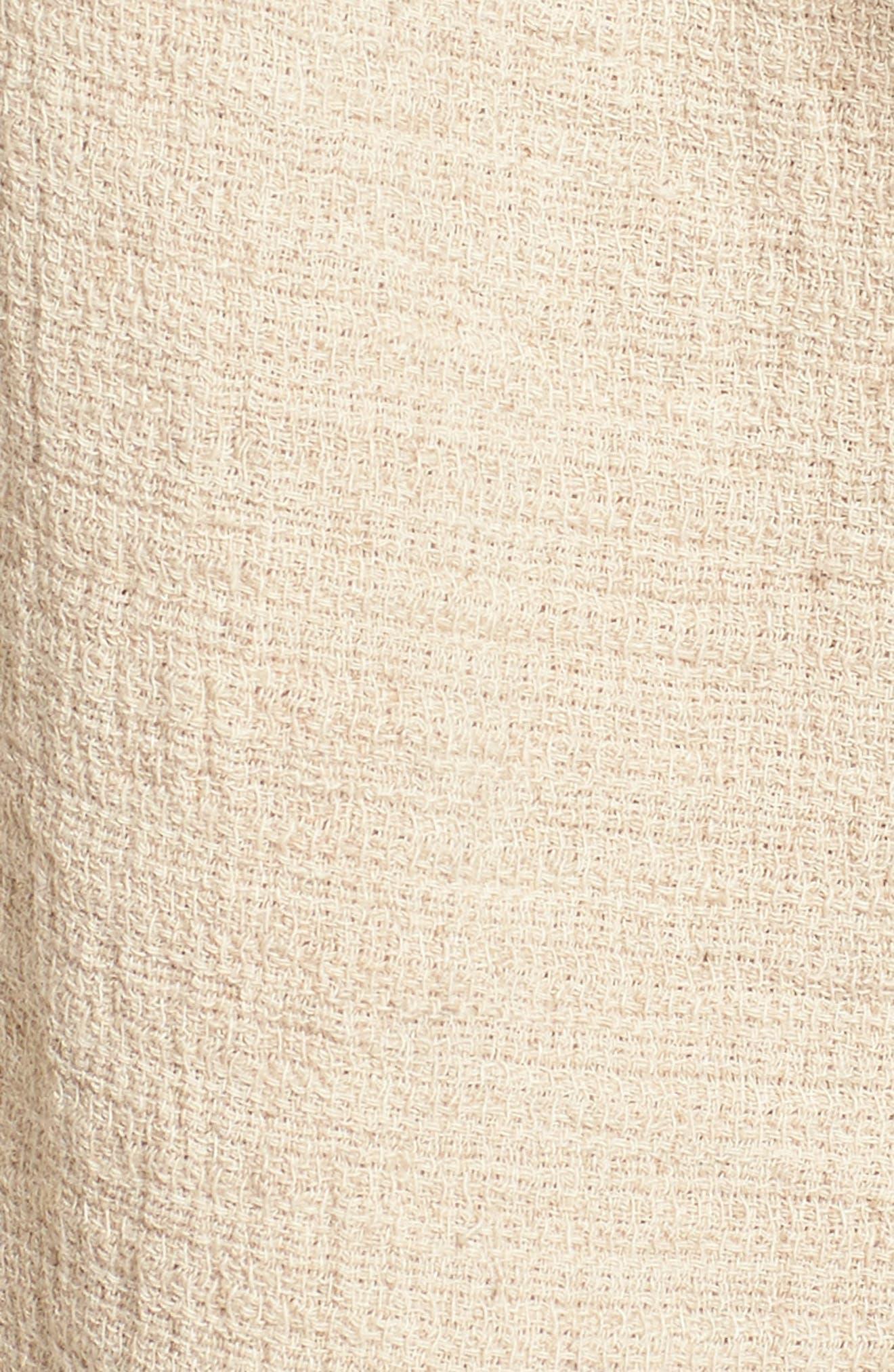 Tie Waist Linen & Cotton Shorts,                             Alternate thumbnail 5, color,                             250