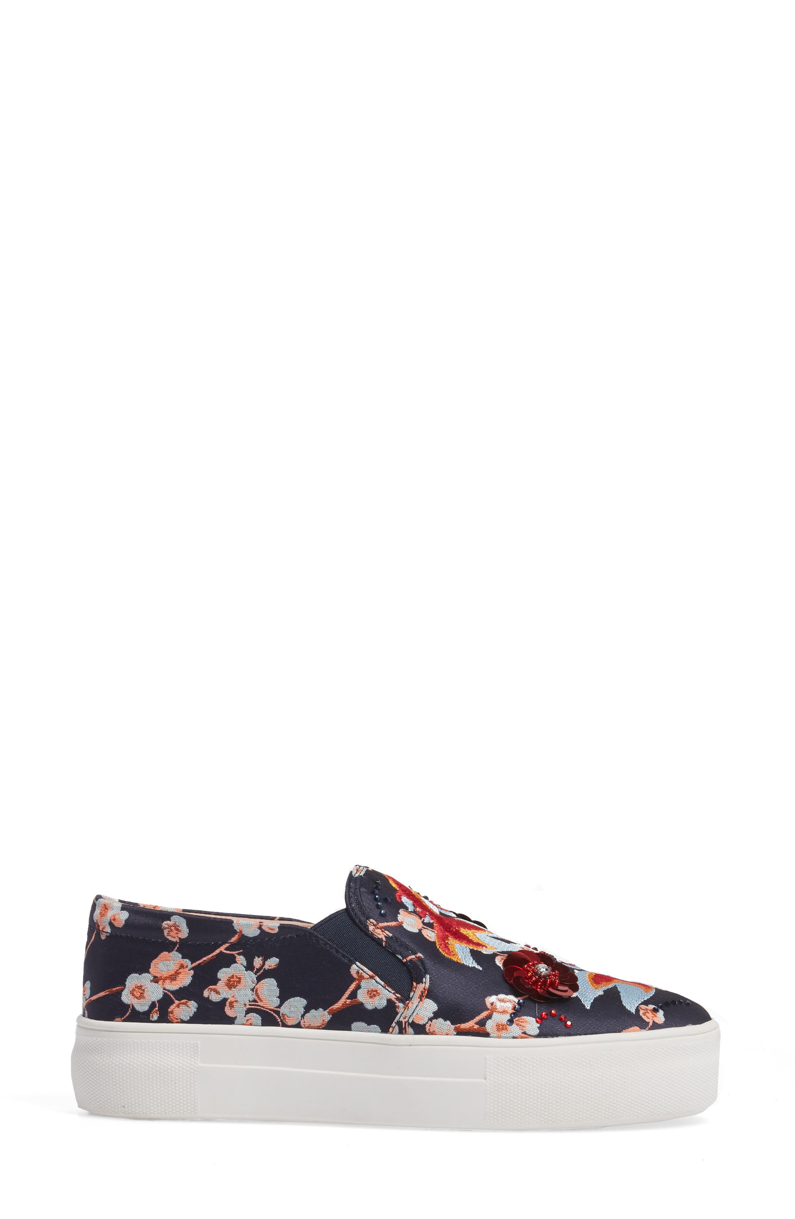 Theory Goldfish Embellished Slip-On Sneaker,                             Alternate thumbnail 3, color,                             001