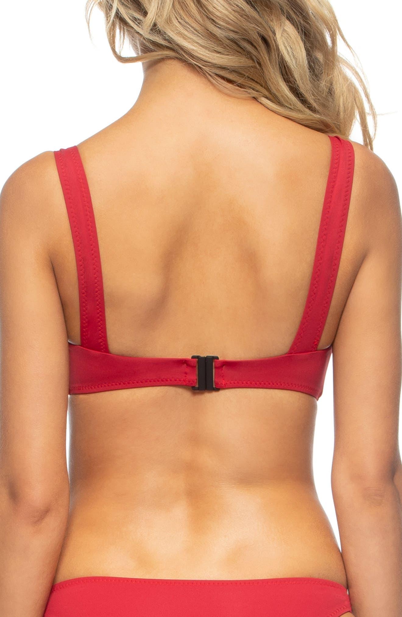 TAVIK,                             Vivien Underwire Bikini Top,                             Alternate thumbnail 2, color,                             SCOOTER RED