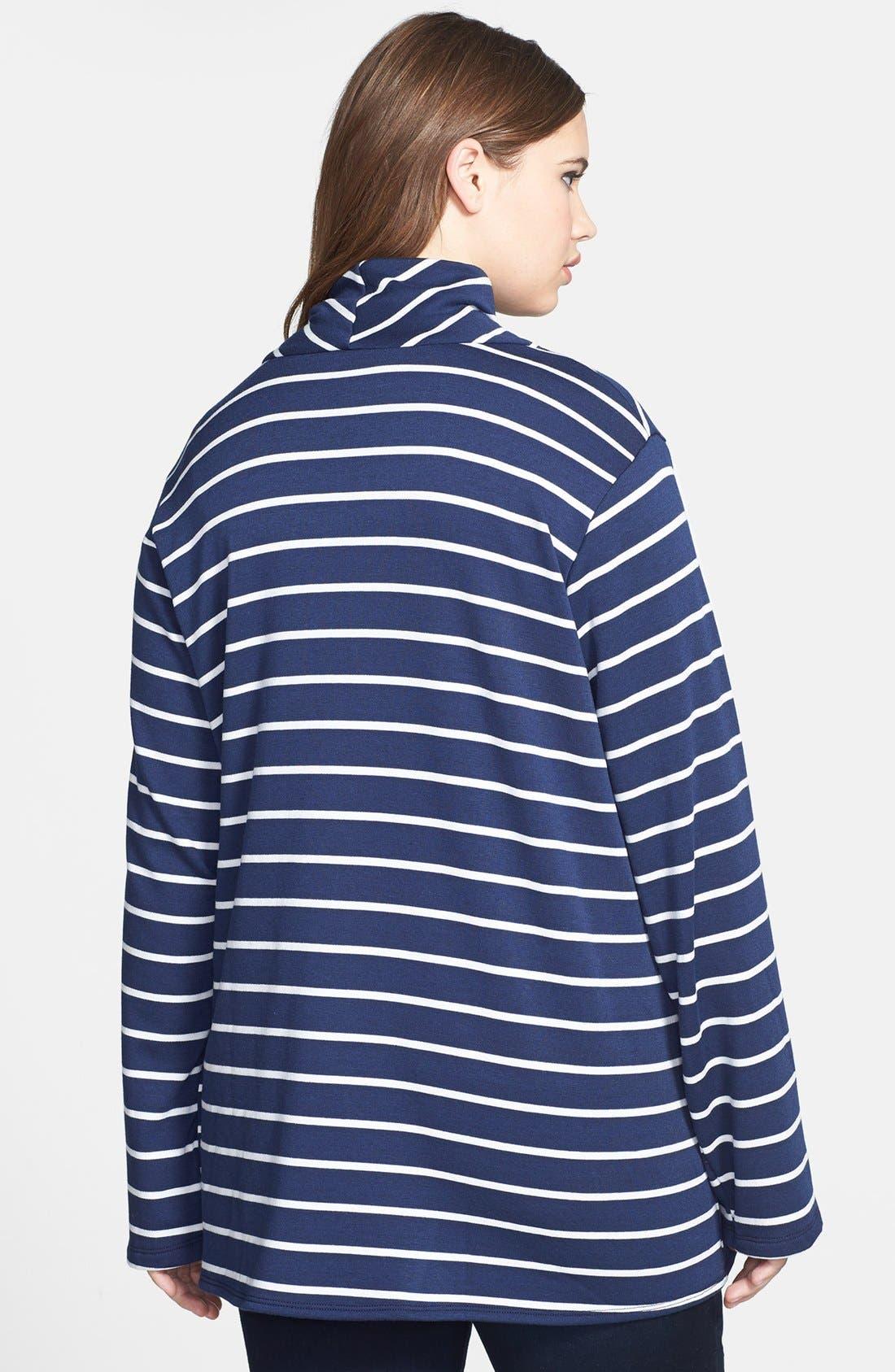 Stripe Fleece Wrap,                             Alternate thumbnail 14, color,