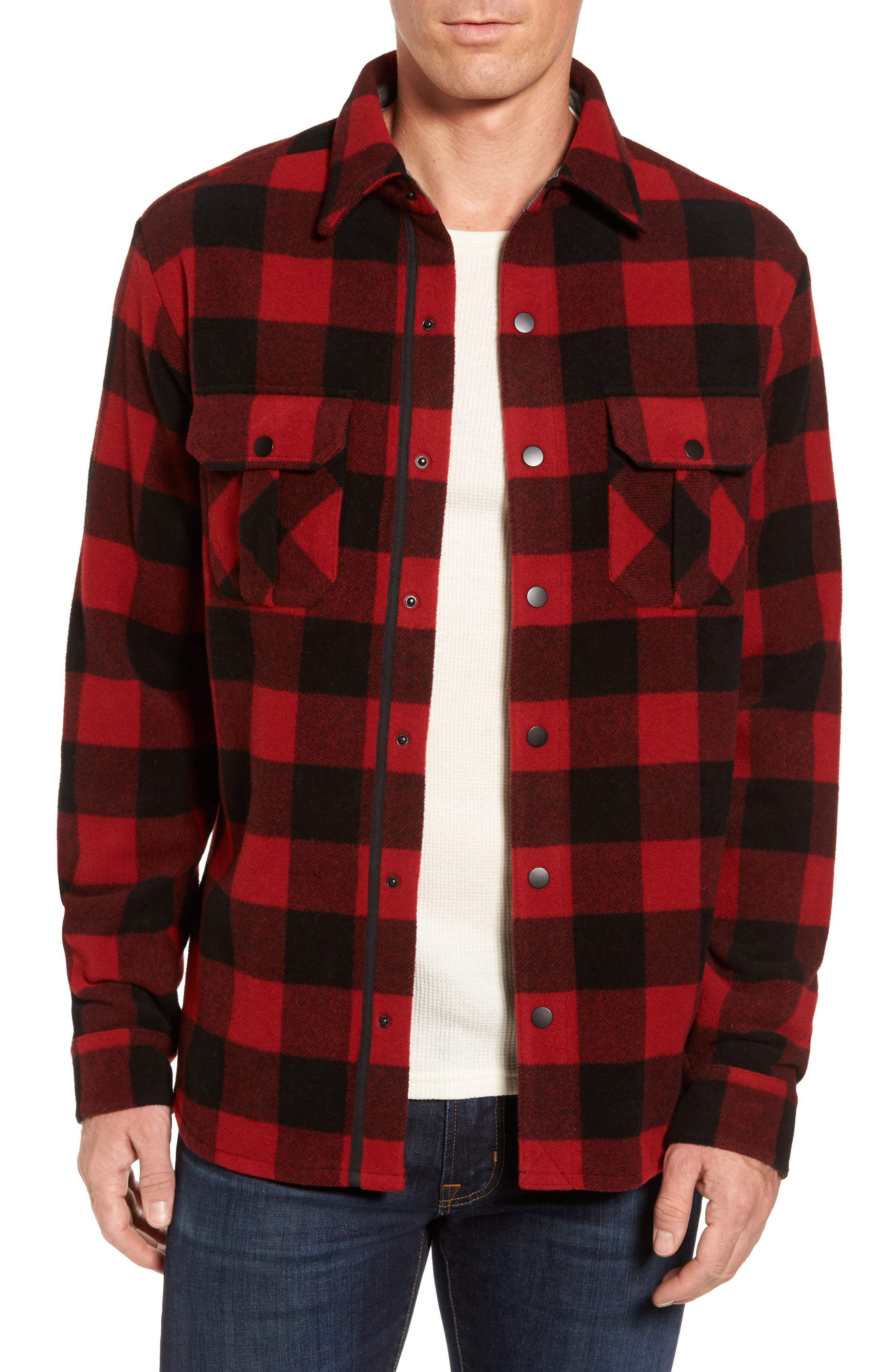 Anchor Line Flannel Shirt Jacket,                             Main thumbnail 2, color,