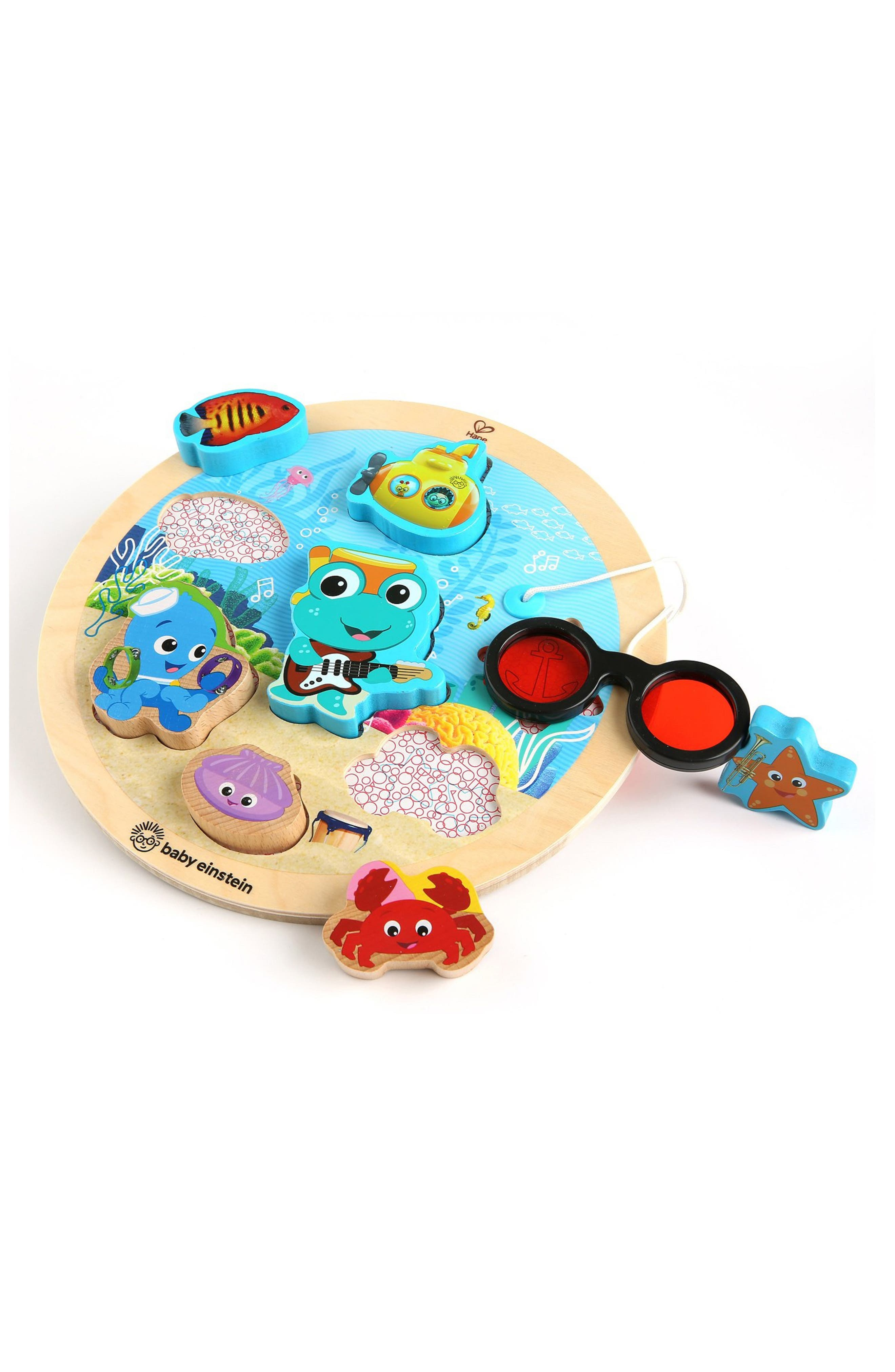 Toddler Baby Einstein Hape Submarine Adventure Wooden Puzzle With Color Reveal Glasses